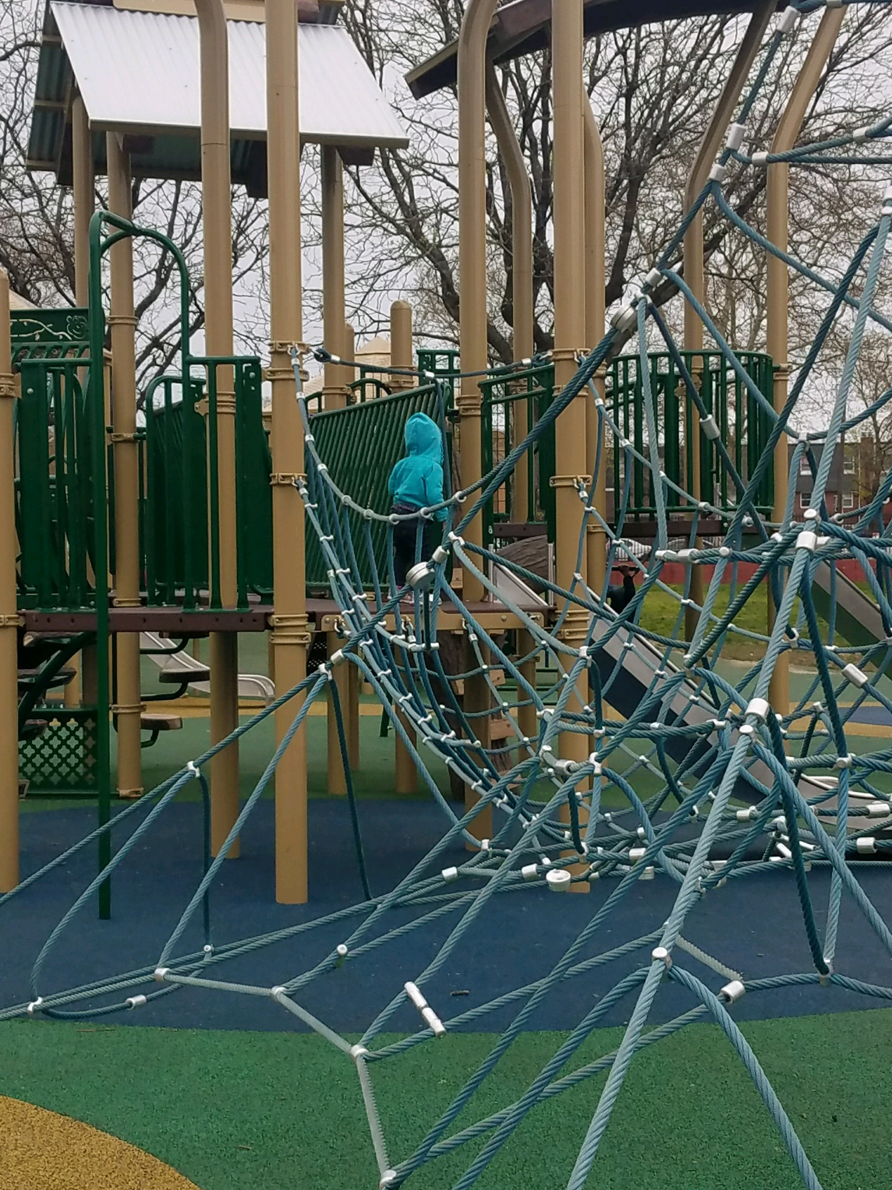A child plays at Murphy Rec's inclusive playground. (Frank Turner)