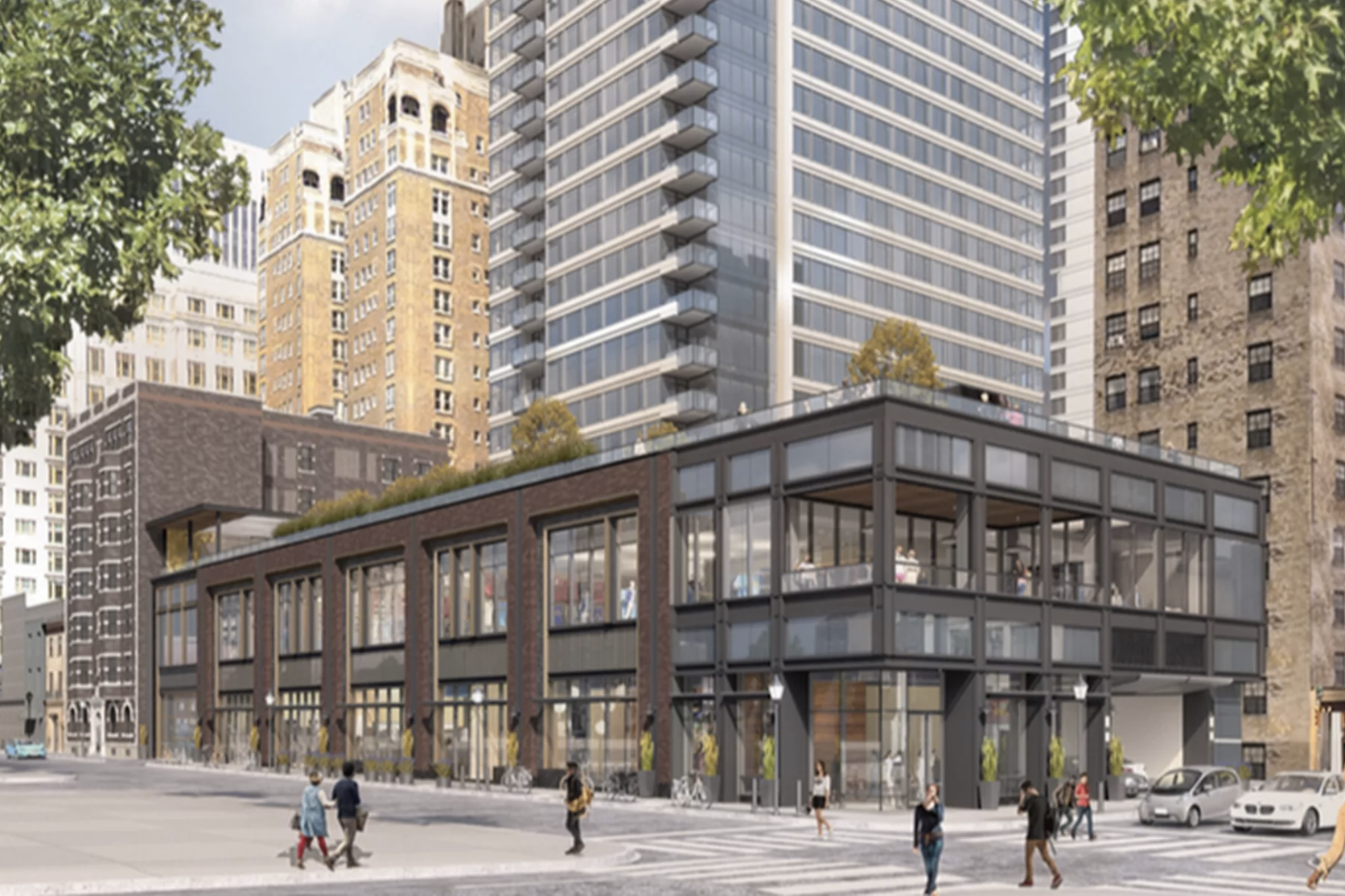 A rendering of The Laurel, under development at 1911 Walnut St. (courtesy of Southern Land Company)