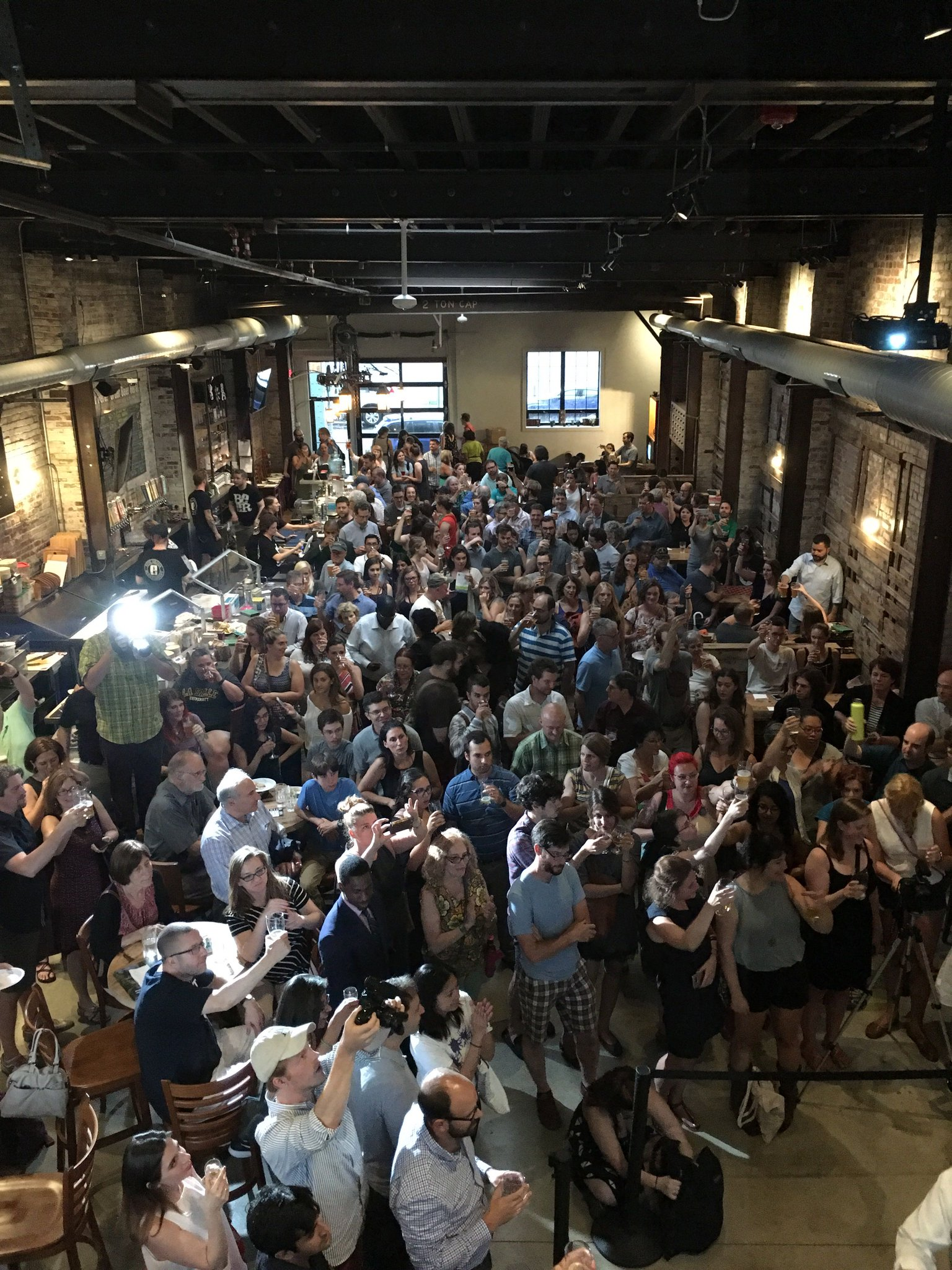 Big crowd for PennEnvironment's Climate on tap event with U.S. Sen. Bob Casey | Evil Genius Beer Co.