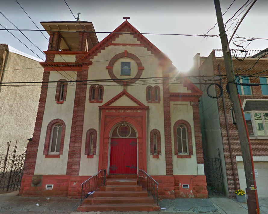 Christian Street Baptist Church, image from Google Streetview