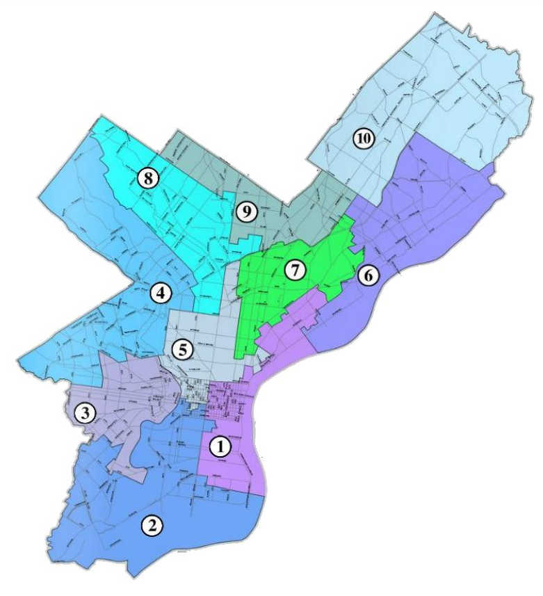 City Council Districts in Philadelphia