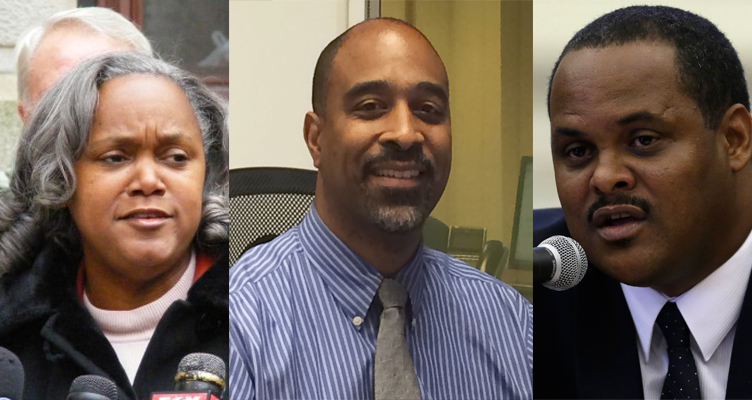 Clarena Tolson (left), Michael Carroll (center) and Carlton Williams (right, AP)