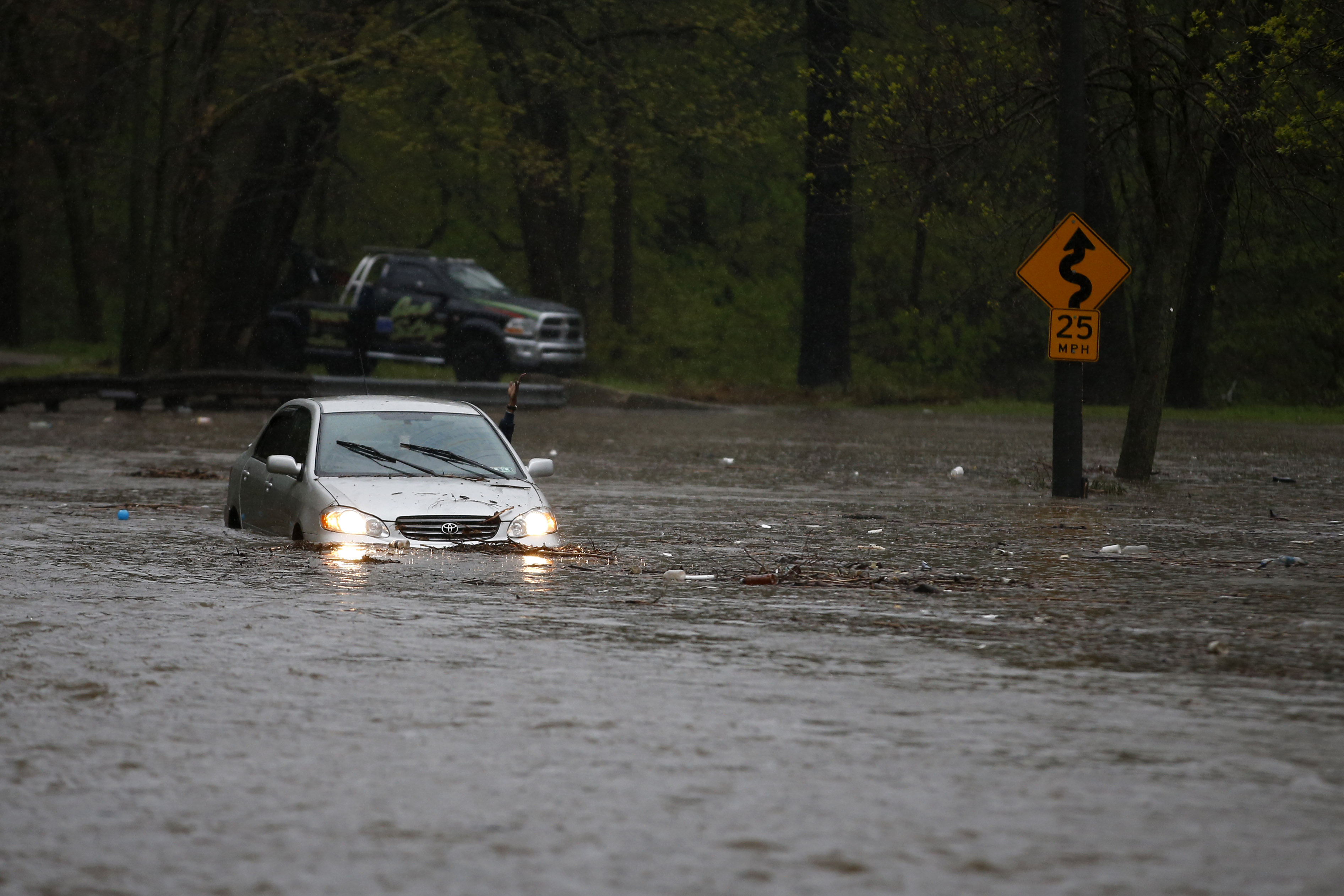 Cobbs Creek Parkway flooding, April 2014 | AP