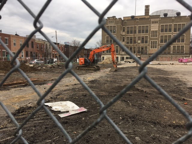 Construction has already begun for the 22 townhomes at the Smith School site