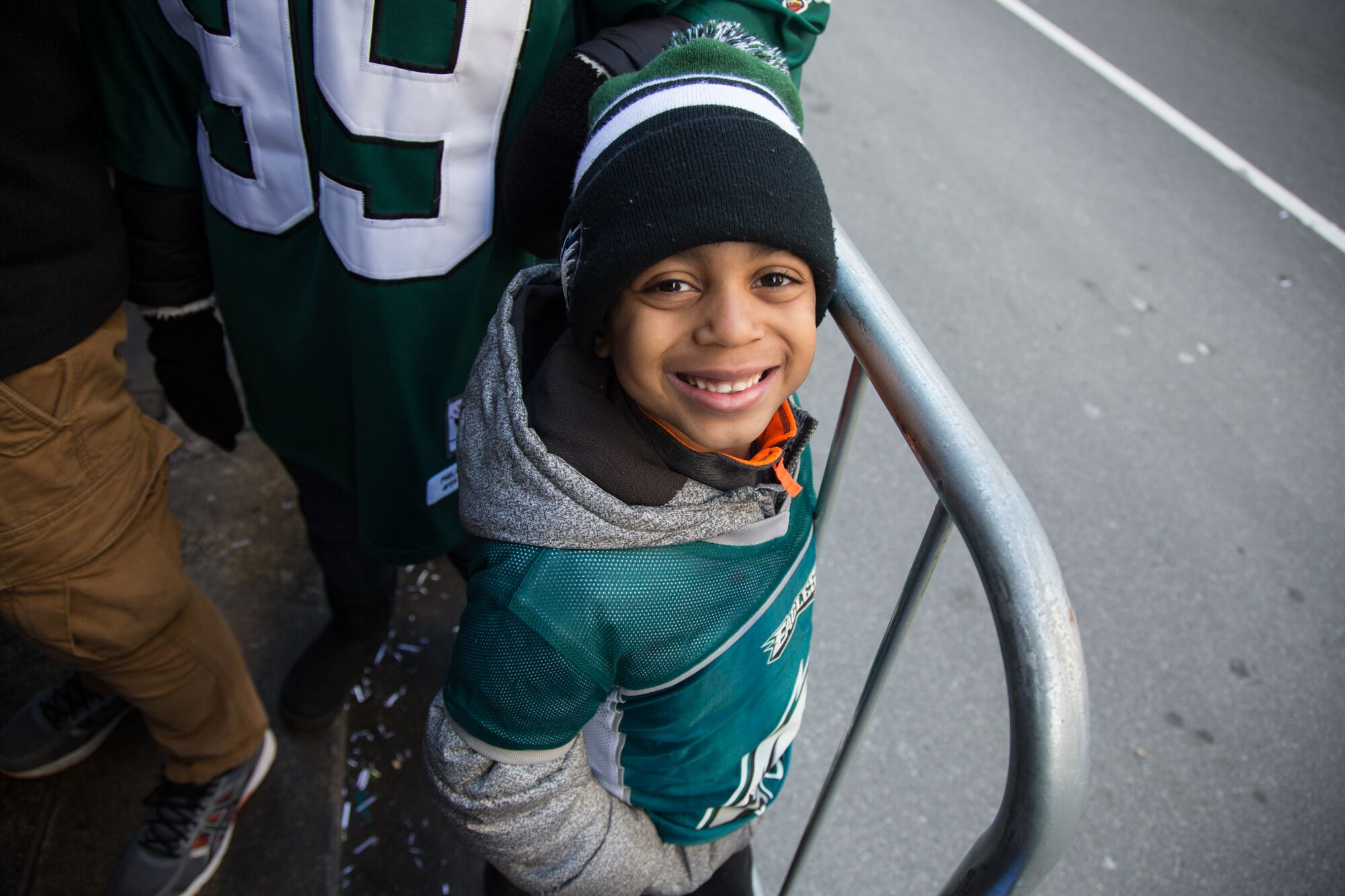 Eagles fans start young. Credit: Emily Cohen/WHYY