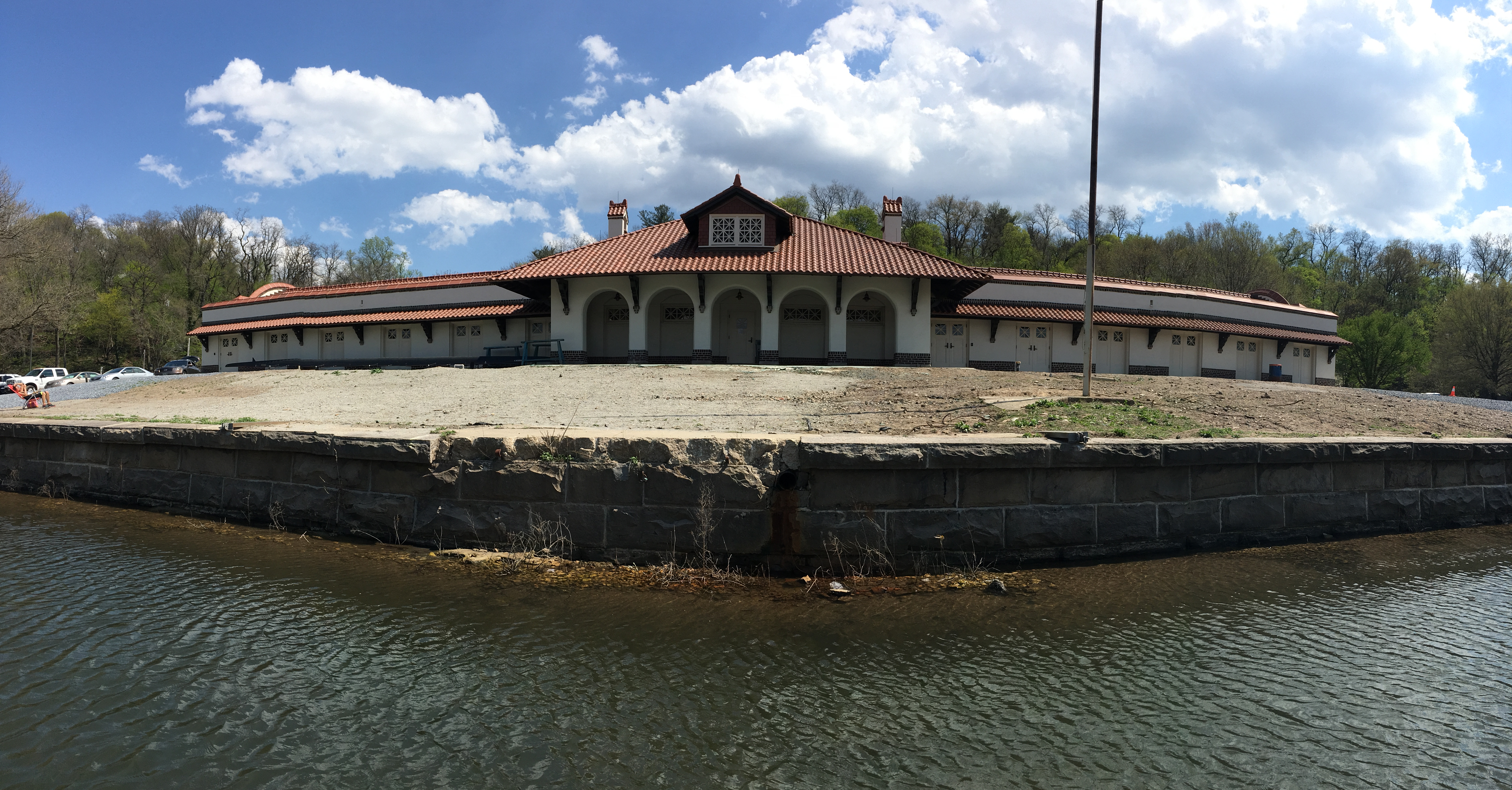 East Park Canoe House from Schuylkill River