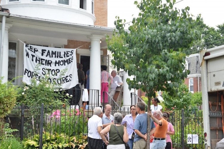 Eviction protest in Germantown (file) | Bas Slabbers for NewsWorks