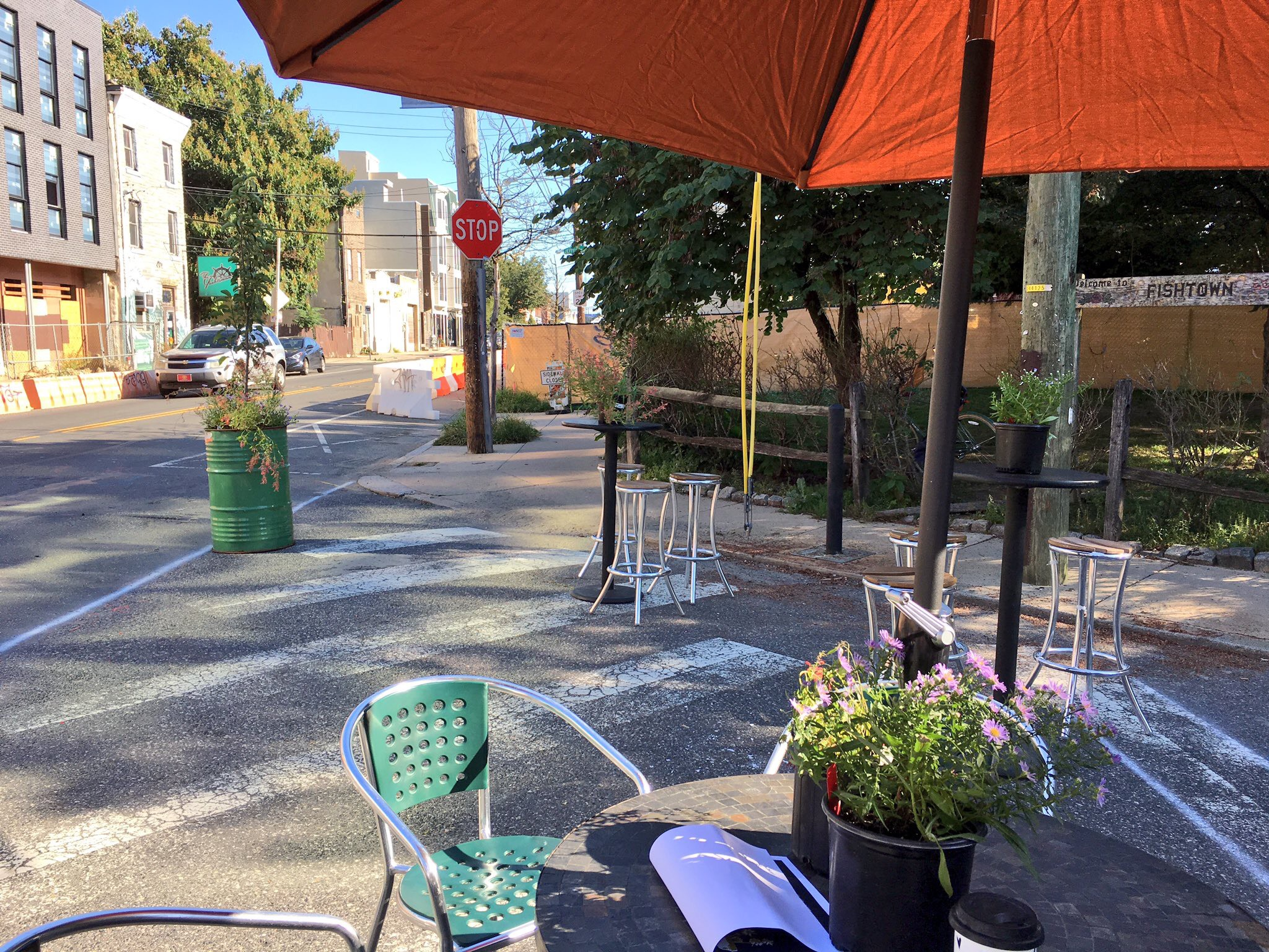 Fishtown Neighbors, Greensgrow, and Johnny Brenda's have it made in the shade at Belgrade and Frankford Ave.