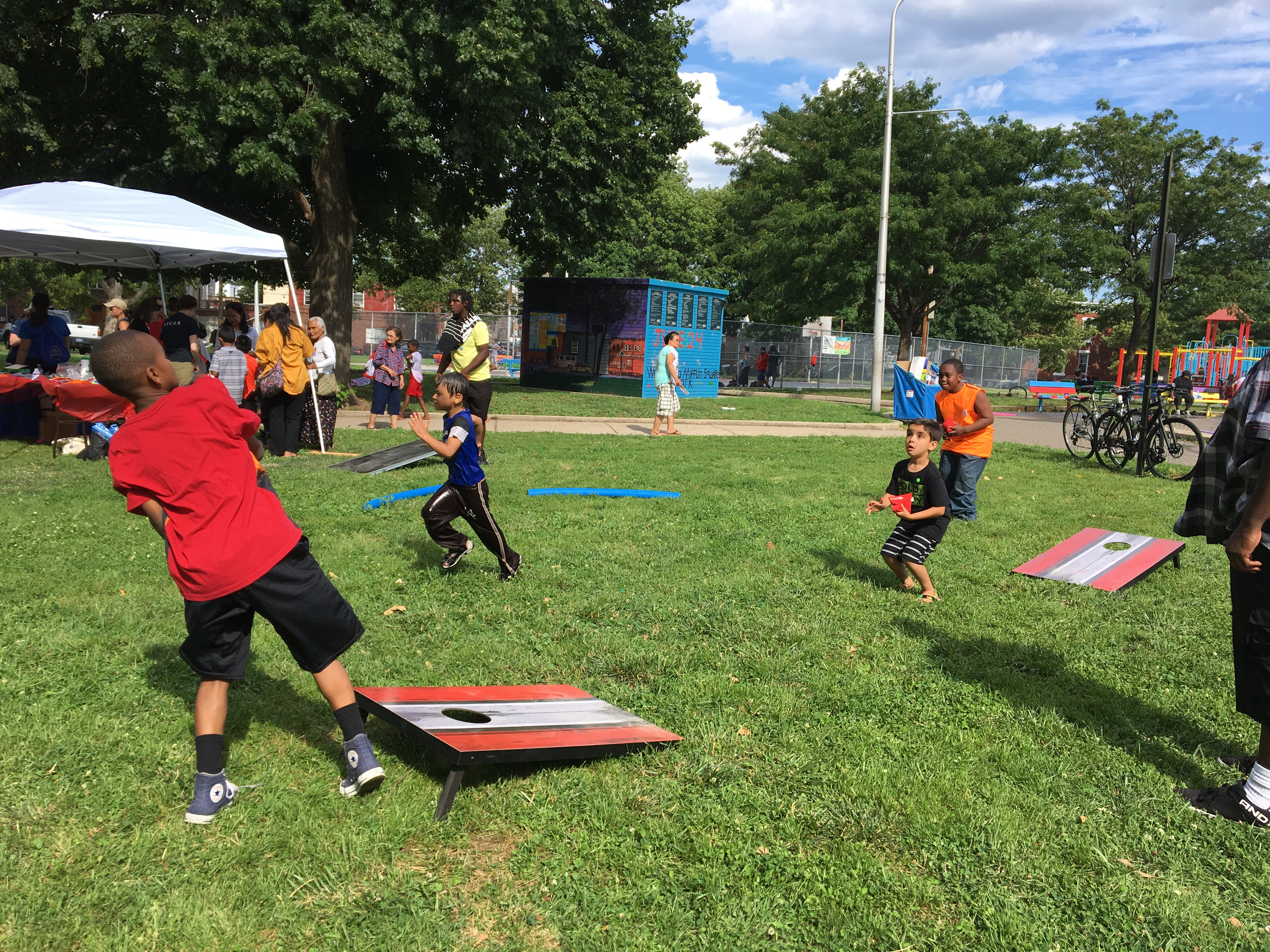 Games in Mifflin Square Park, June 2017 | Julia Bell / PlanPhilly