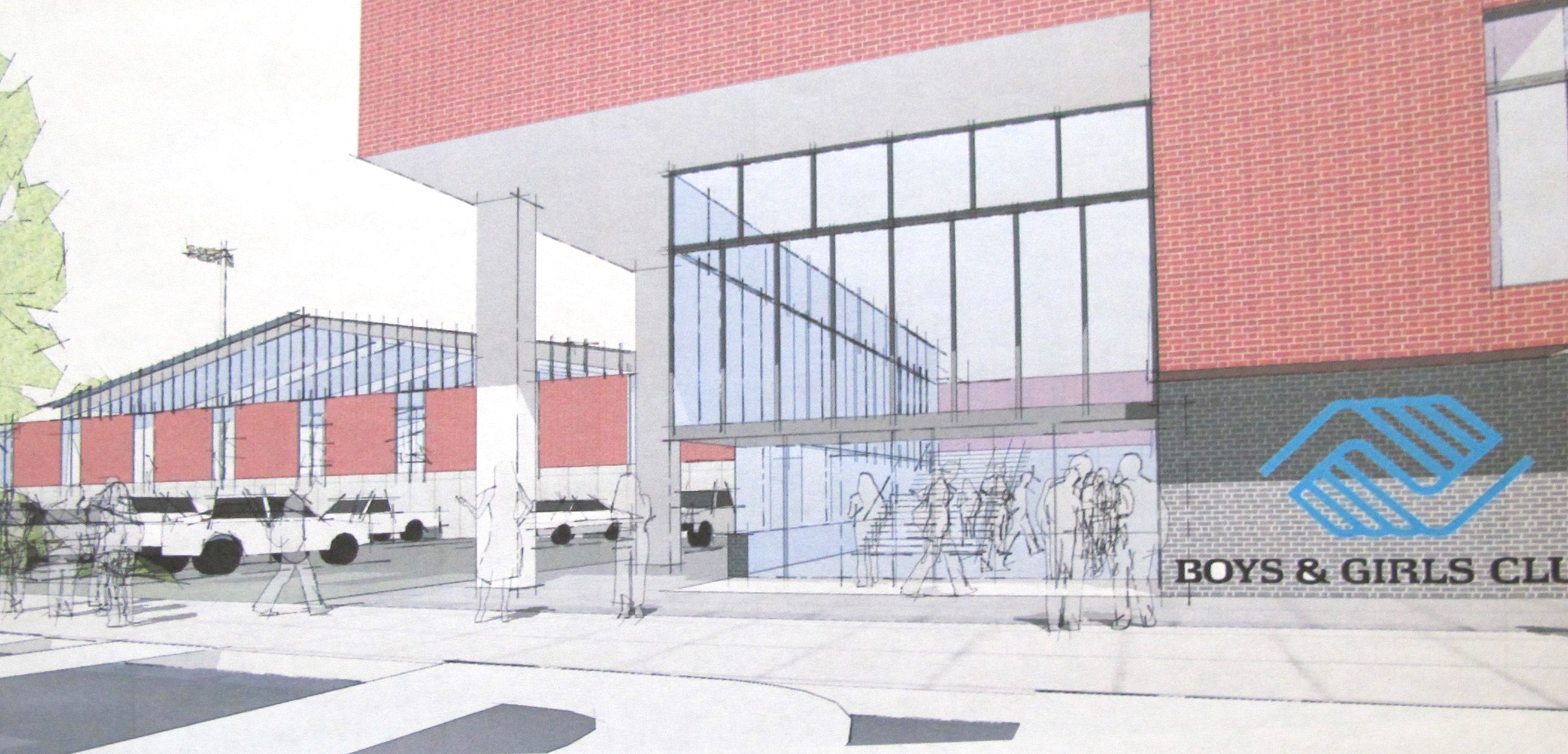 Rendering, from 2013, of the entrance to the Germantown Boys & Girls Club