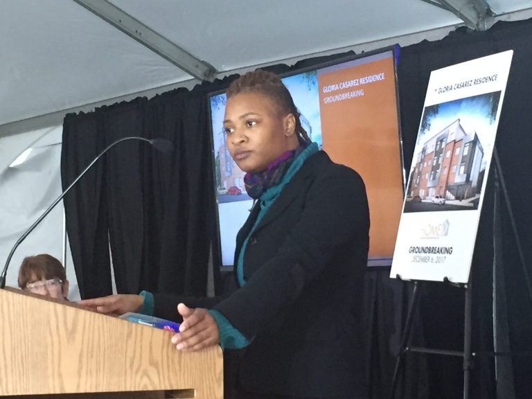 Gloria Casarez Residence LGBTQ youth housing groundbreaking. Credit: Annette John-Hall/WHYY
