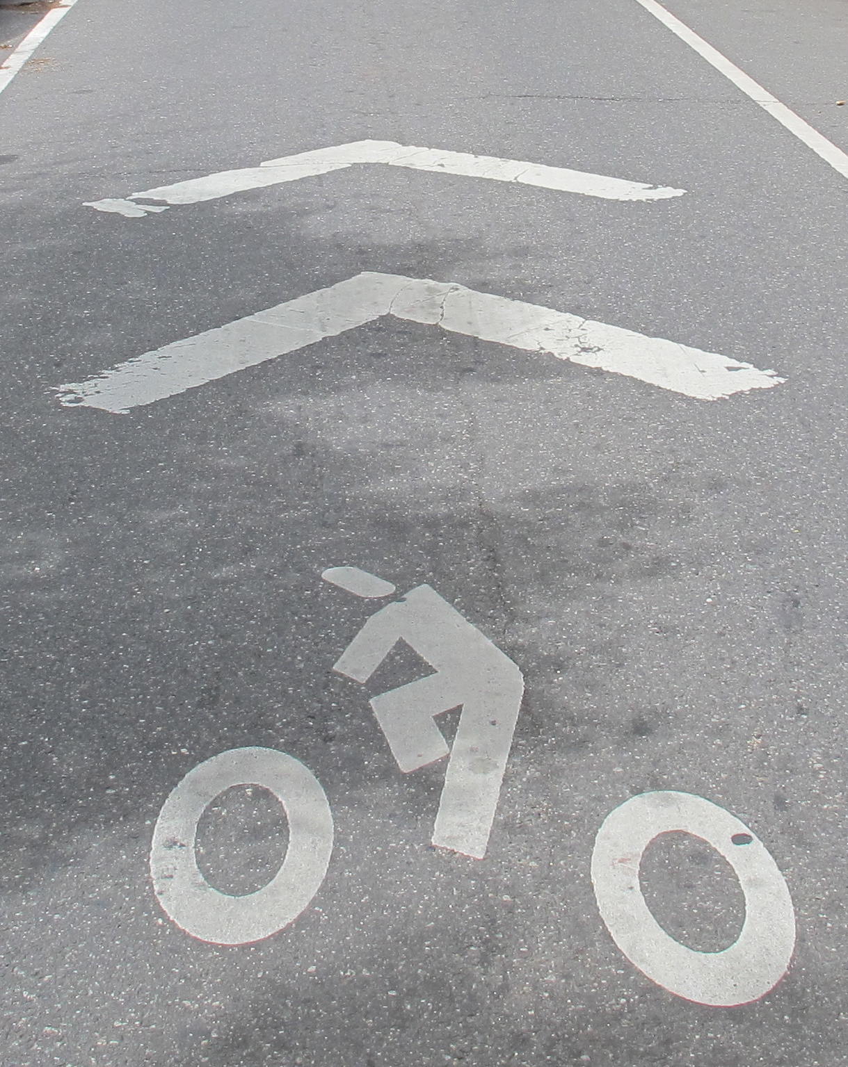 Sharrows are symbols that remind drivers and cyclists to share the lane.
