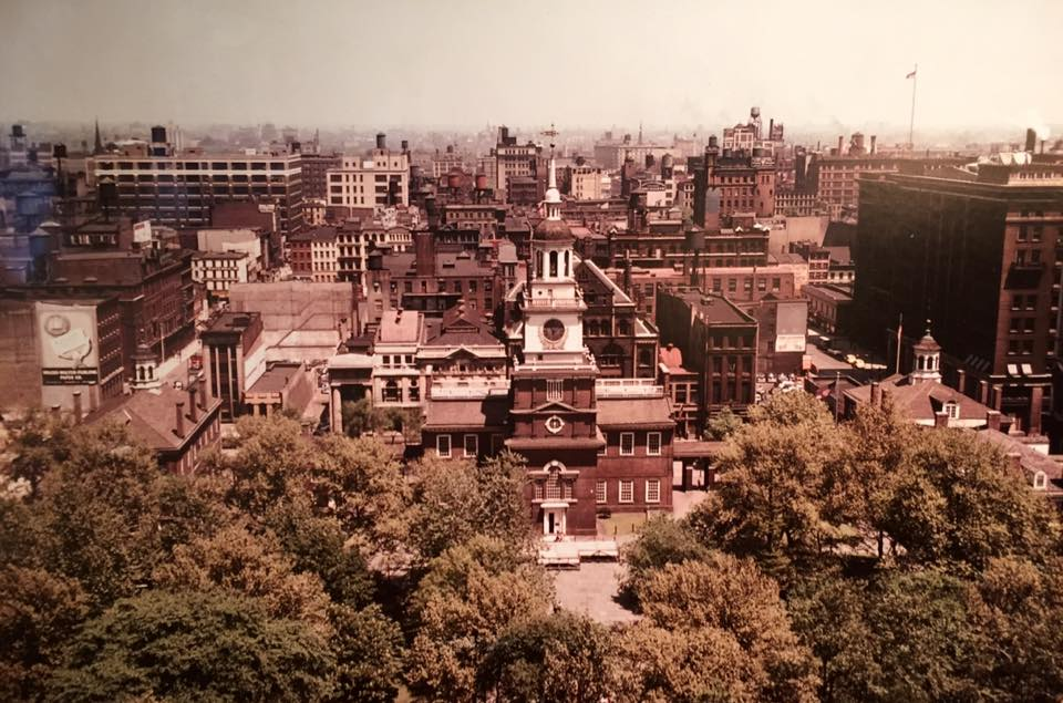 Independence Hall viewshed, 1950 | Lawrence S. Williams Collection, Athenaeum of Philadelphia