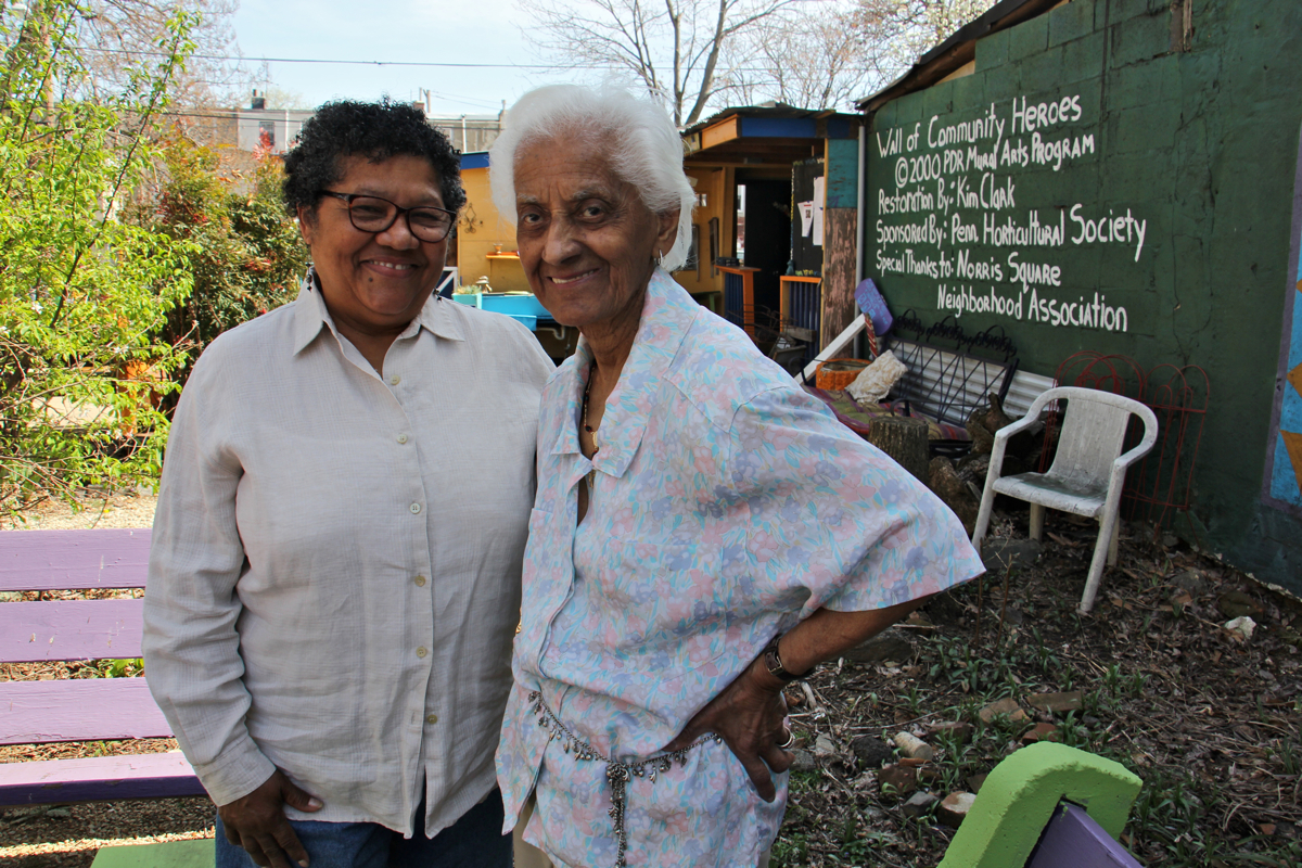 Iris Brown and Tomasita Romero created Las Parcelas and another five gardens in the late 1980s | Emma Lee/WHYY