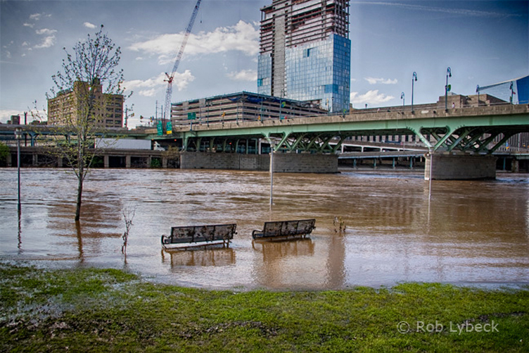 Schuylkill River flooding, May 2014 | Rob Lybeck, EOTS Flickr Group