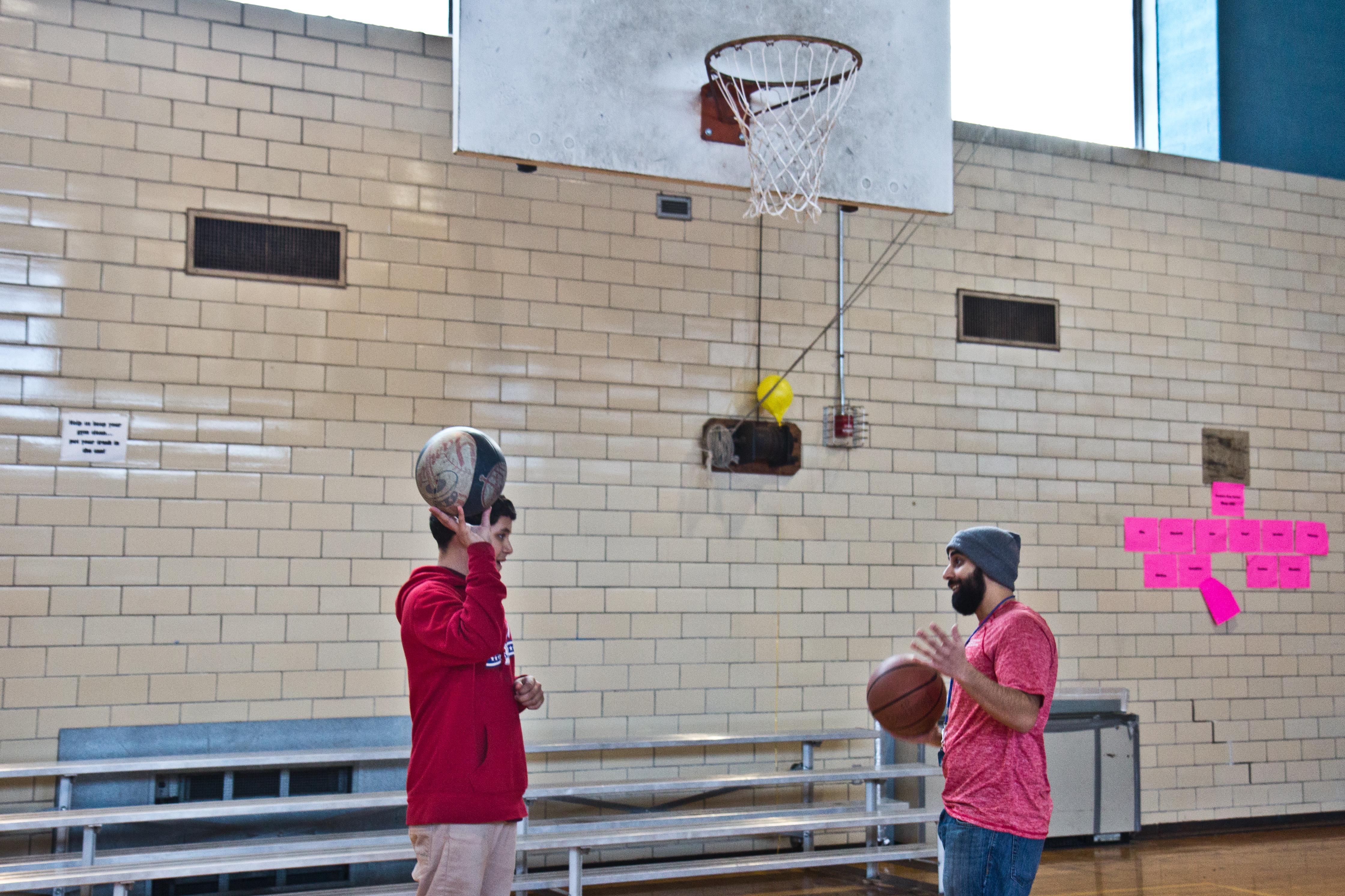 Julien Carrasquillo (right) is a 28-year-old leader trainee at Rivera Rec Center in Fairhill.