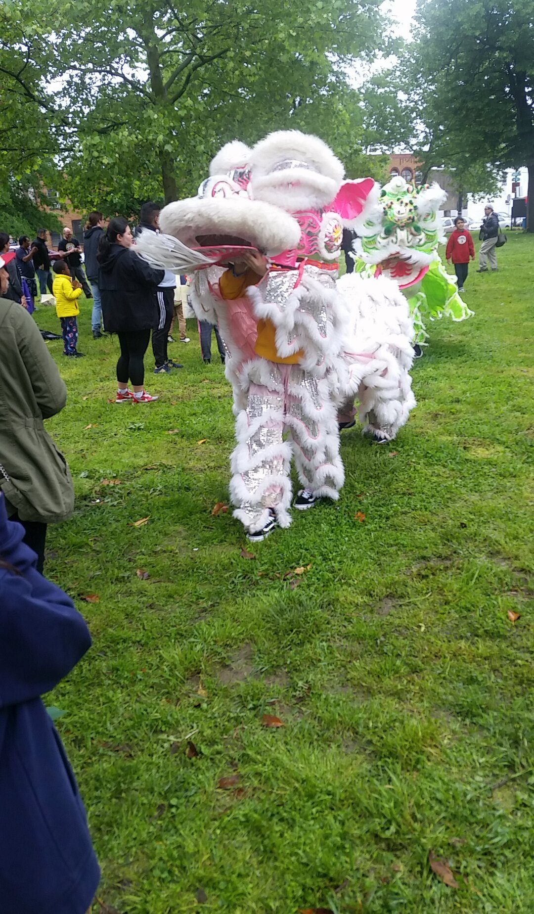 Lion dance performance during Asian American Pacific Islander Heritage Celebration at Mifflin Square Park. Credit: Jishava Patel