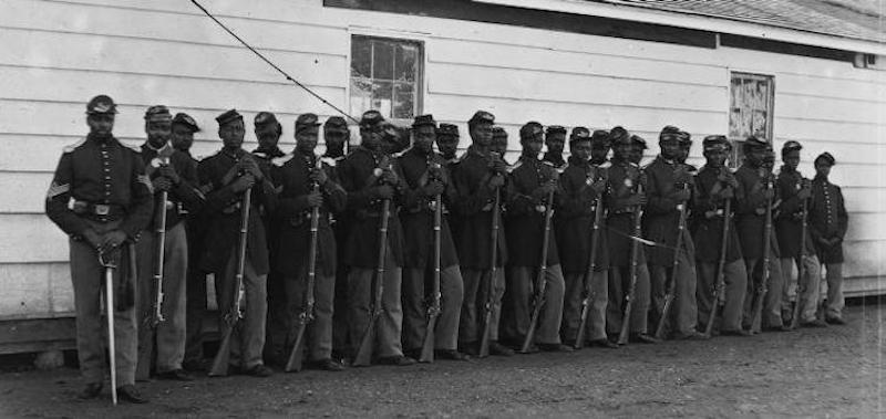 More than 160,000 African American soldiers served in the Union Army. Credit: Library of Congress