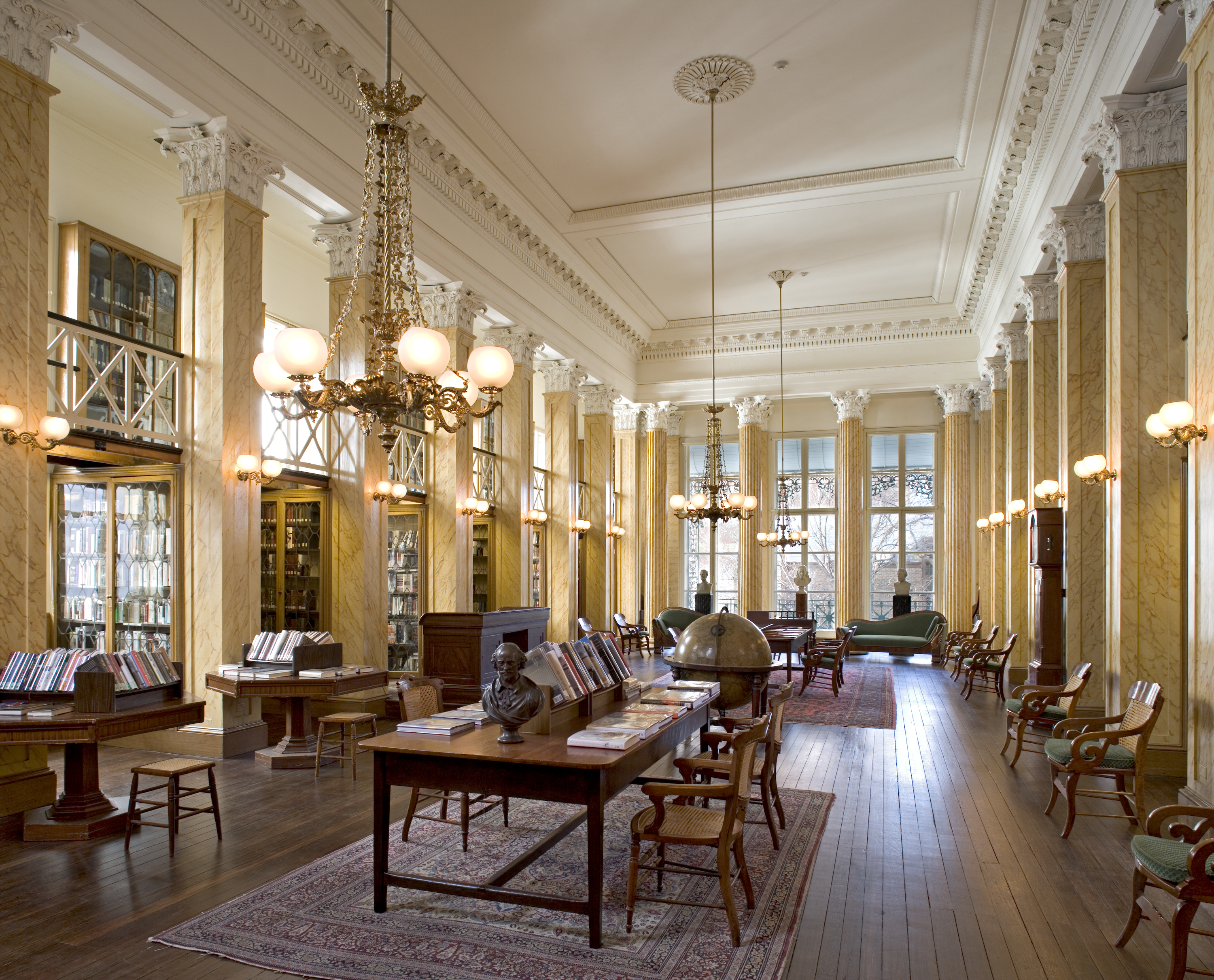 One of the two reading rooms in The Athenaeum of Philadelphia (photo credit: Tom Crane)