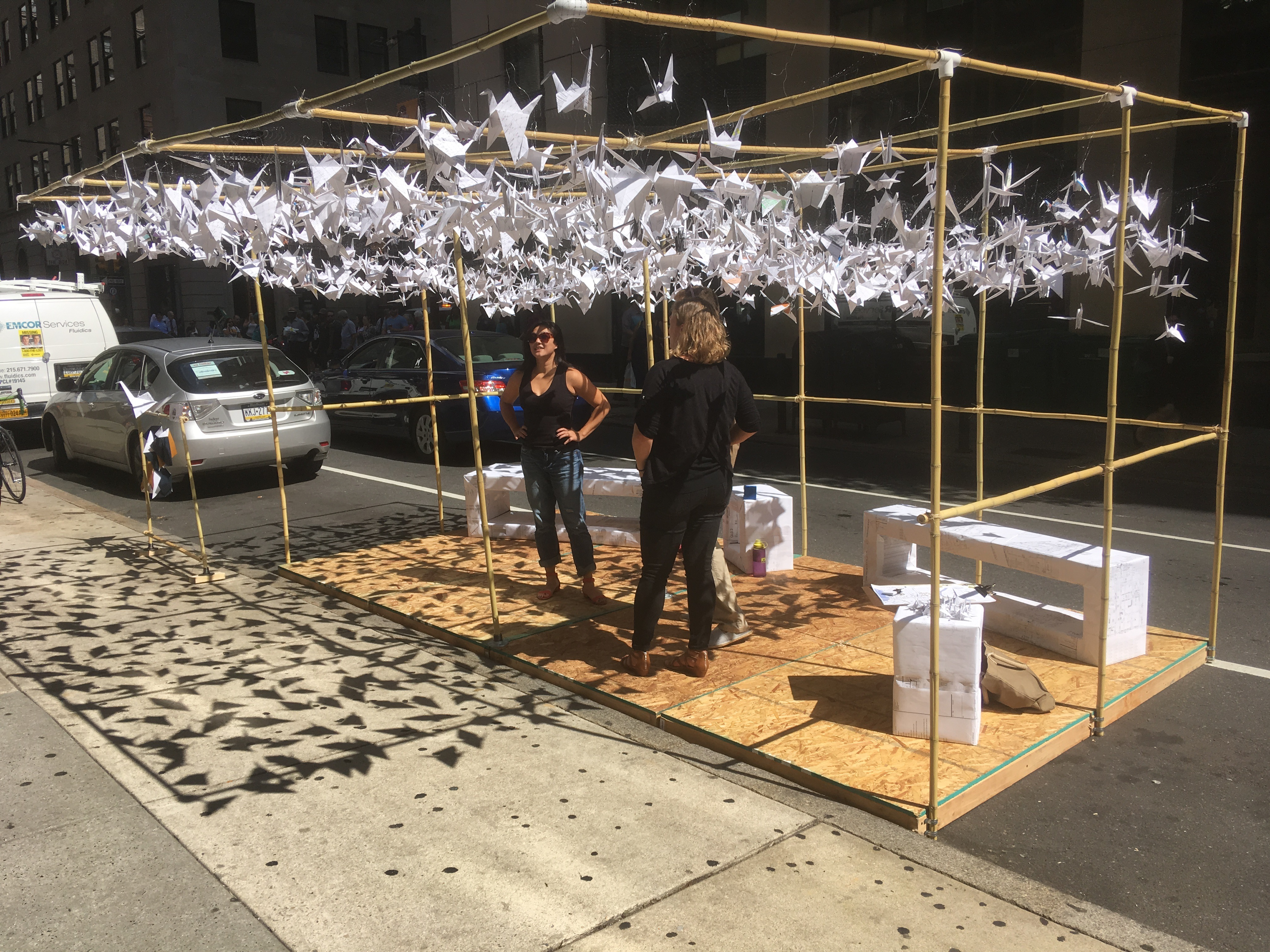 Park(ing) Day was for the birds at SMP Architect's installation at 16th and Chestnut