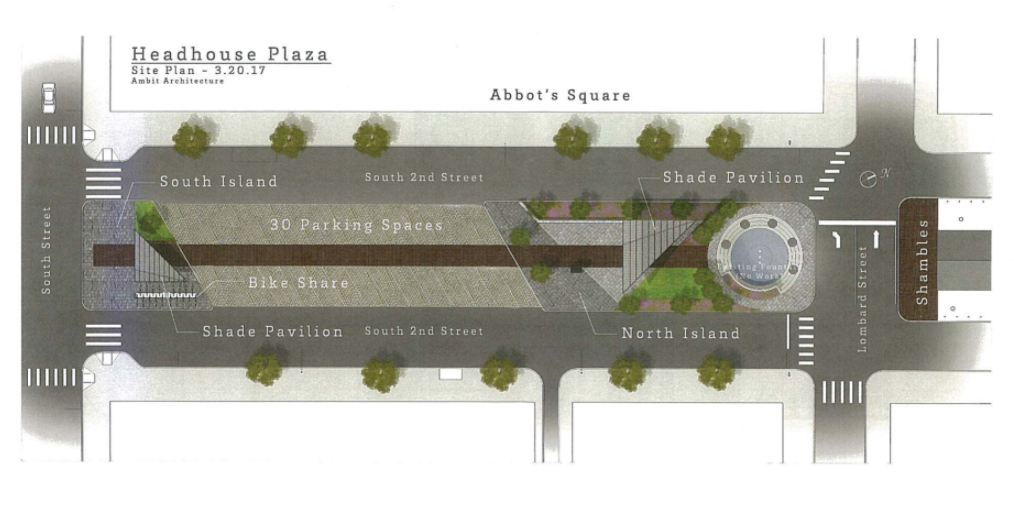 Plan for Headhouse Plaza (Art Commission, June 2017) | Ambit Architecture