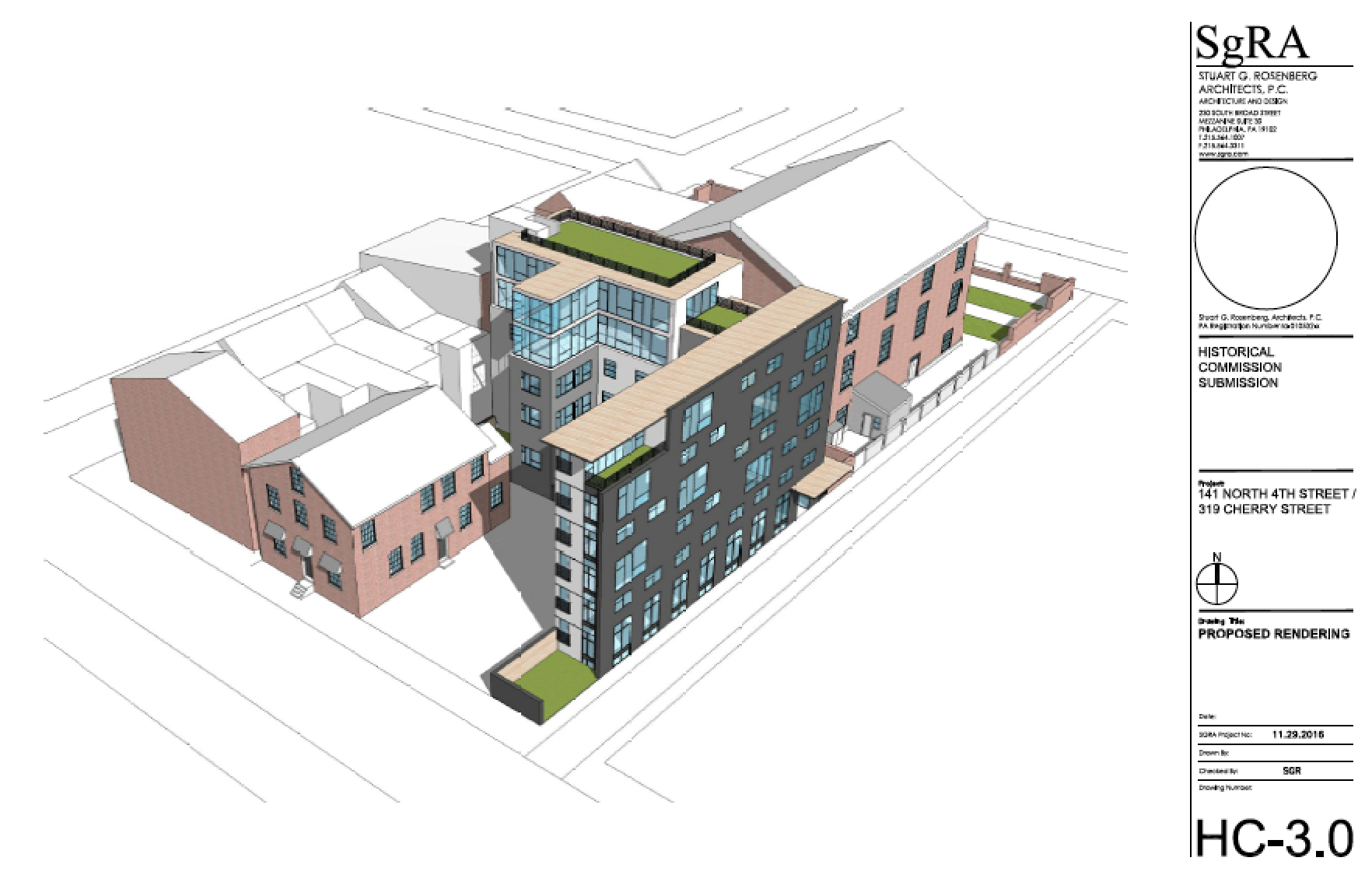 Proposal for 141 N. 4th / 319 Cherry, December 2016 Architectural Committee hearing | SgRA