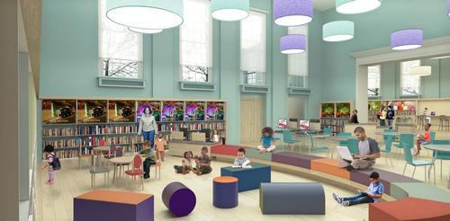 Rendering of Logan Library's new children's section (Courtesy of J R Keller)