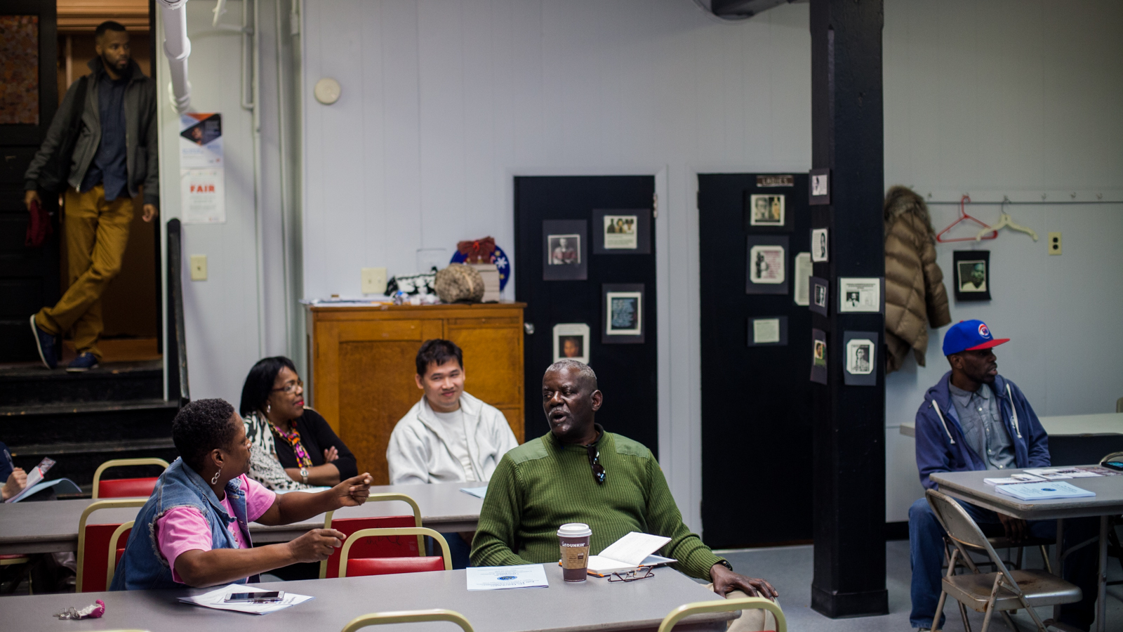 Residents of the Grays Ferry neighborhood attended a Civic Engagement Academy hosted by the Philadelphia Commission of Human Relations at the Williams Temple CME Church. (Brad Larrison for NewsWorks)