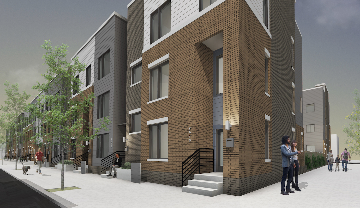RiverWards Group's 30-unit townhouse development, 'Avenue 30' in East Kensington, broke ground March 2017. Credit: Renderings by KJO Architects via RiverWards Group/The Somers Team