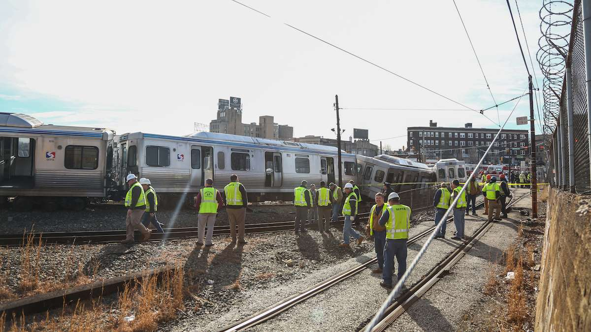 SEPTA crash at 69th Street Station, February 21, 2017 | Emily Cohen for NewsWorks