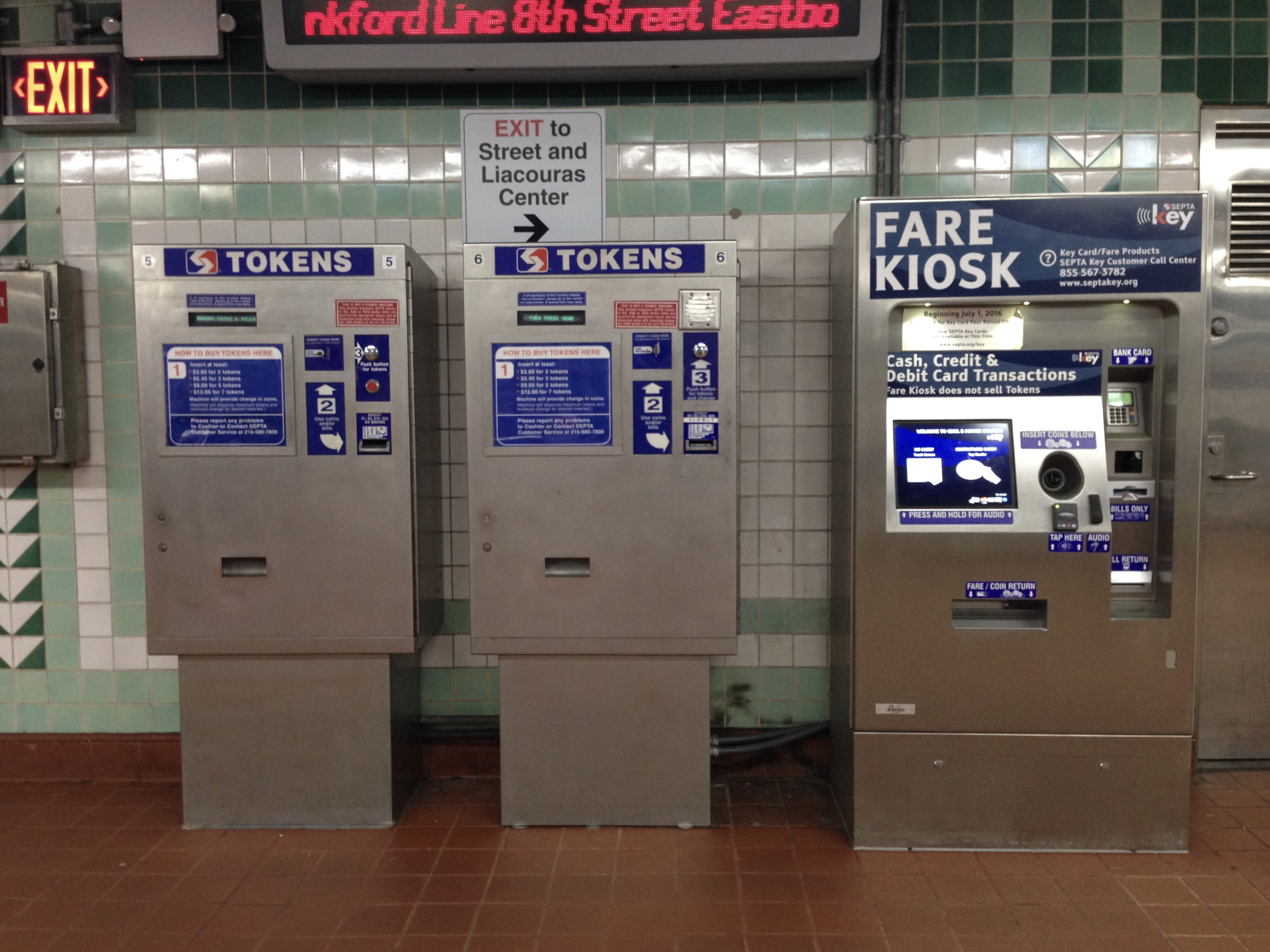 SEPTA fare kiosks, new and old