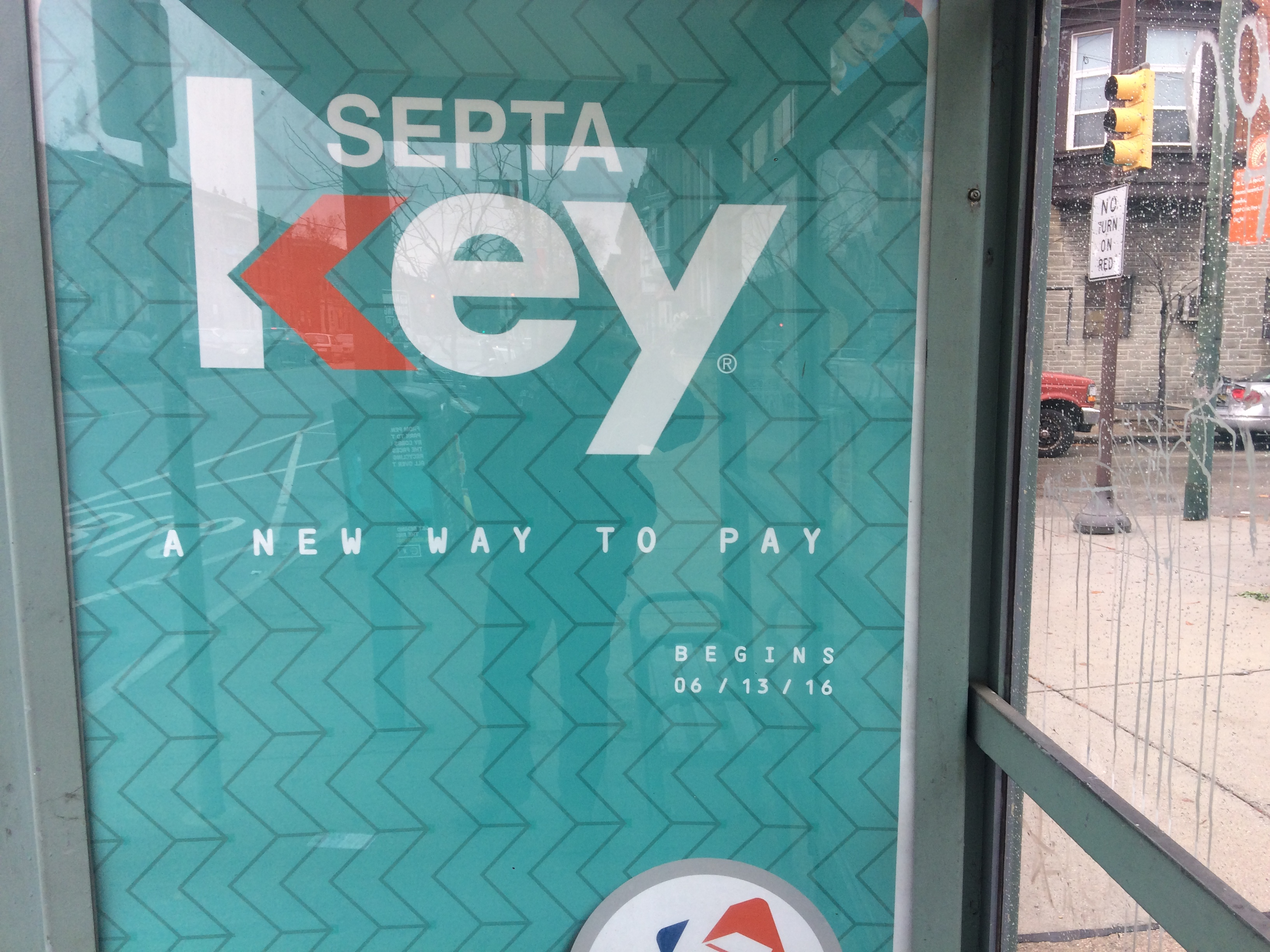 SEPTA Key bus shelter ad suggesting the new way to pay began on June 13th, 2016