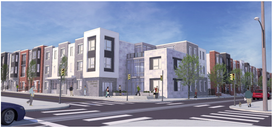 The community center in a planned Philadelphia Housing Authority project