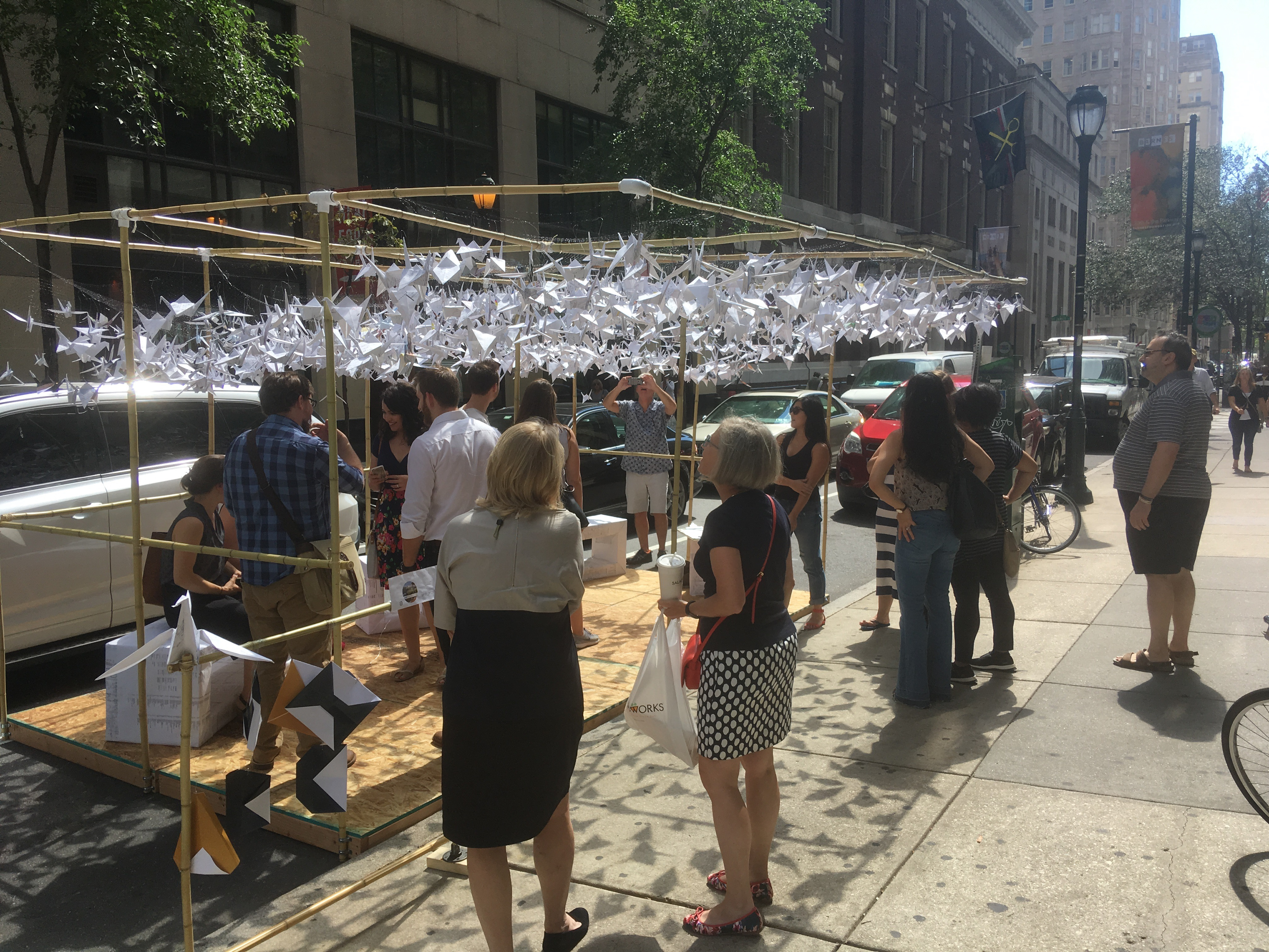 The crowds flocked to SMP Architect's Park(ing) Day installation at 16th and Chestnut
