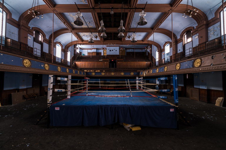 The legendary Blue Horizon at 1314 North Broad, made extra famous by Rocky V, was once one of the most historical boxing rings of all time. Credit: Johnny Joo/Architectural Afterlife