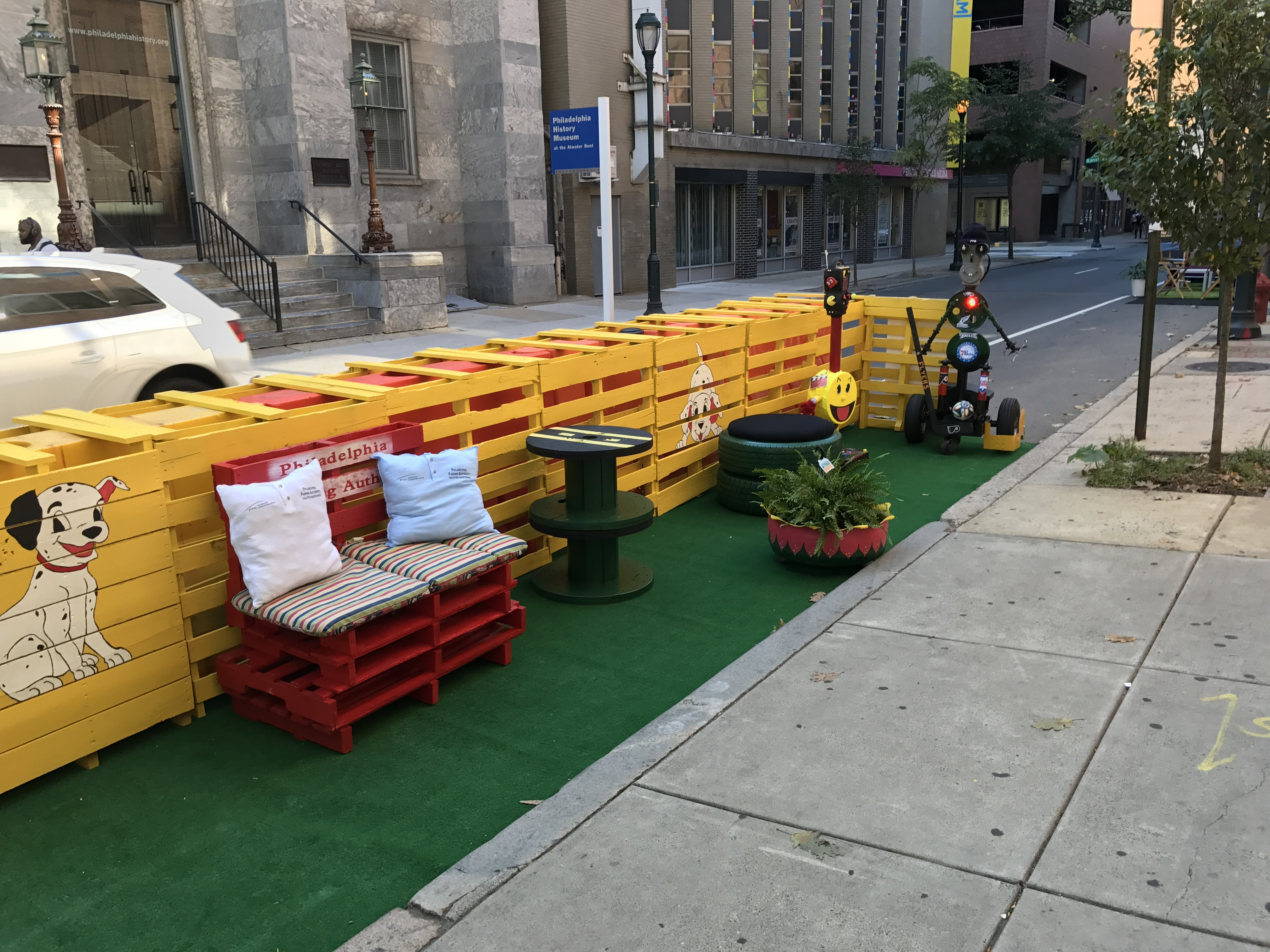 The PPA gets in on Park(ing) Day 2017 action at 7th and Ranstead