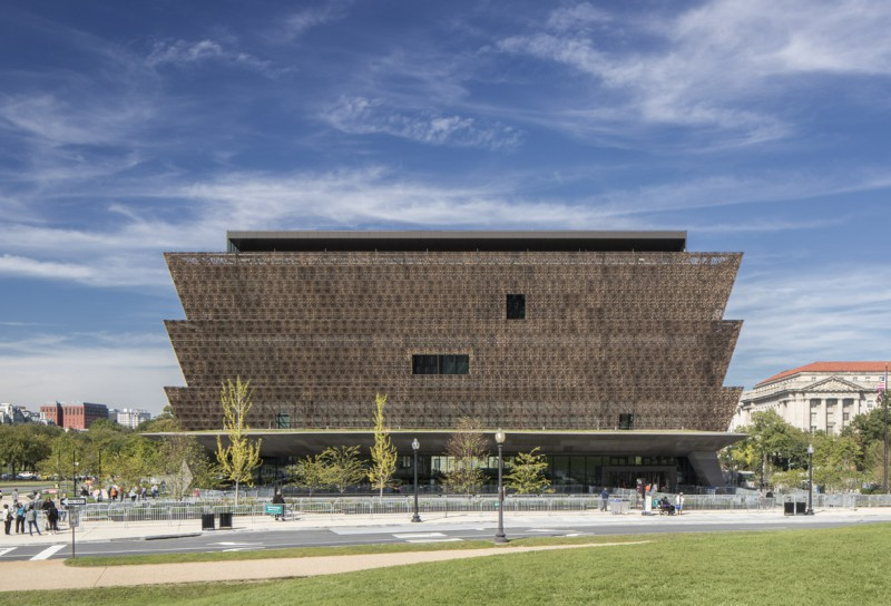 The Smithsonian National Museum of African American History and Culture in D.C., designed by Adjaye Associates. Credit: Adjaye Associates