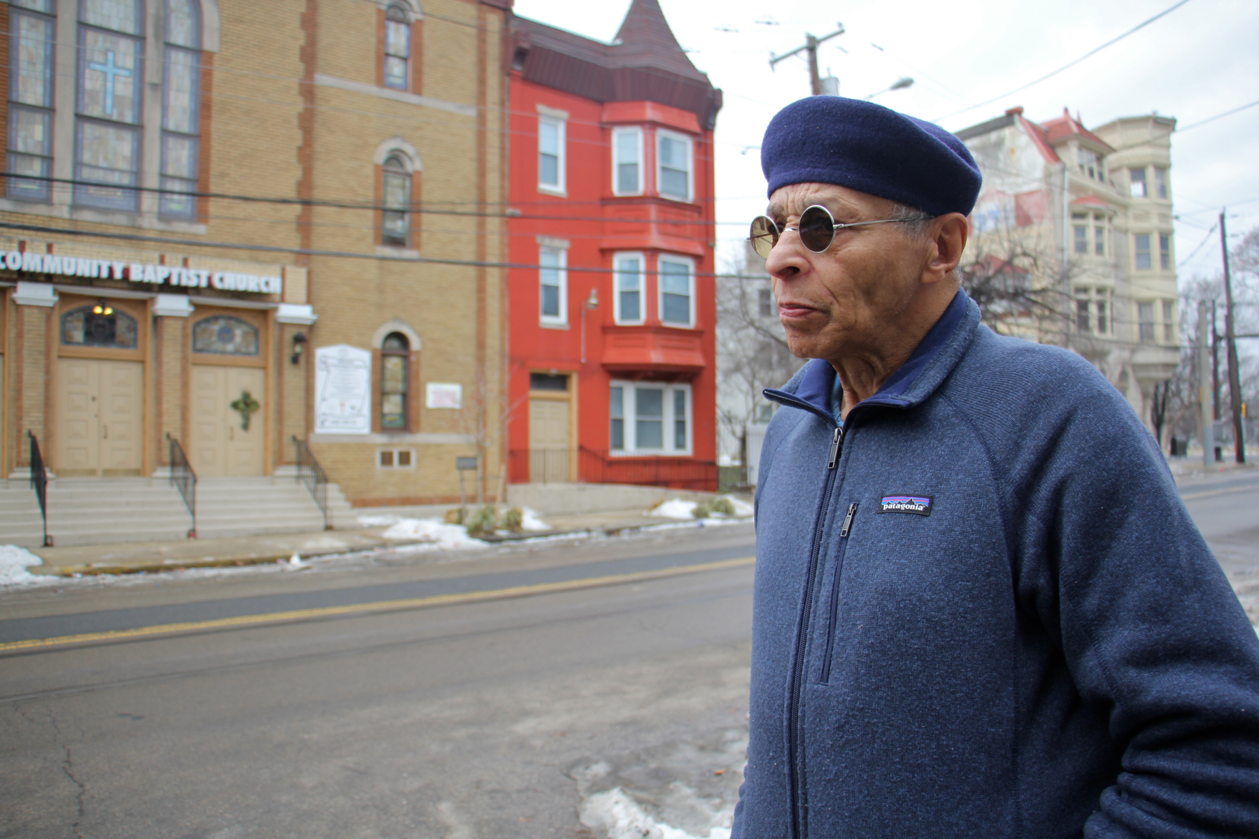 Vivian Bailey in the Parkside neighborhood where he finally found a landlord who would accept his housing voucher. Credit: Emma Lee/WHYY
