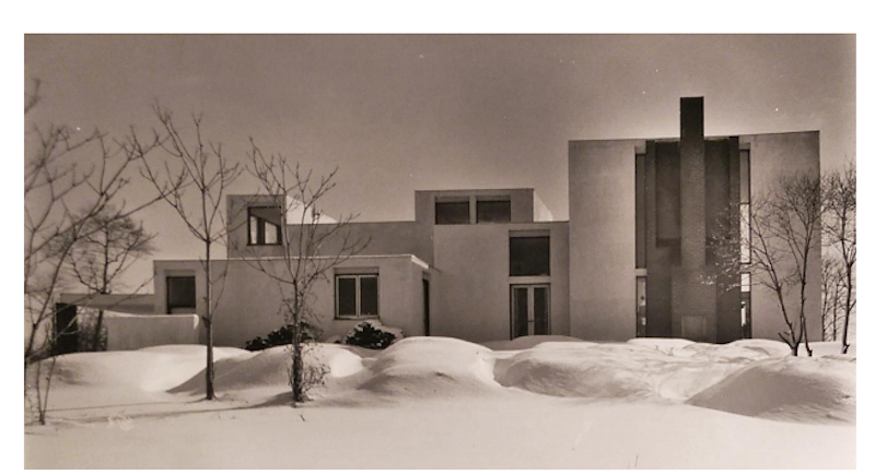Dorothy Shipley White Residence in the snow