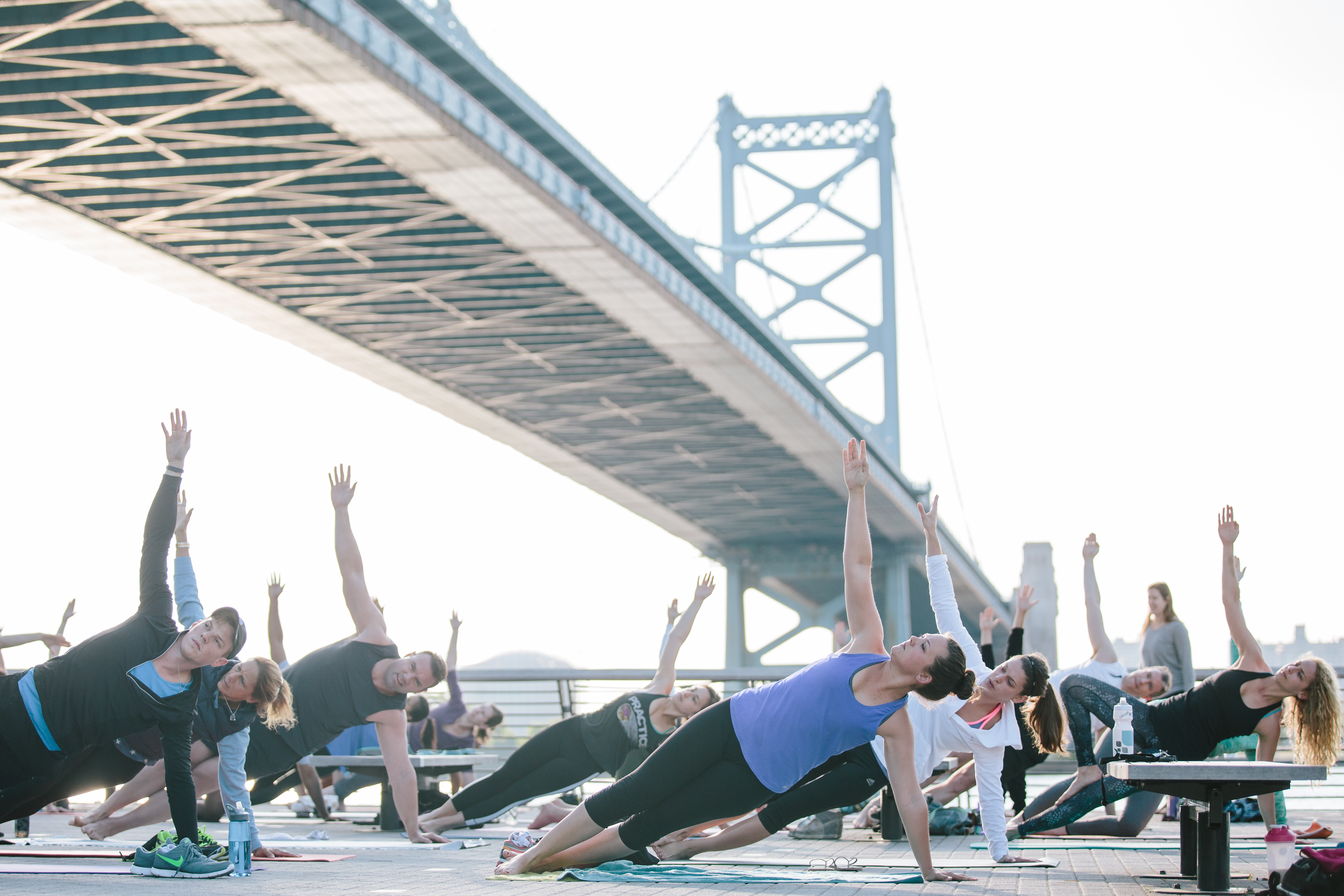 Yoga at Race Street Pier (Matt Stanley/DRWC)