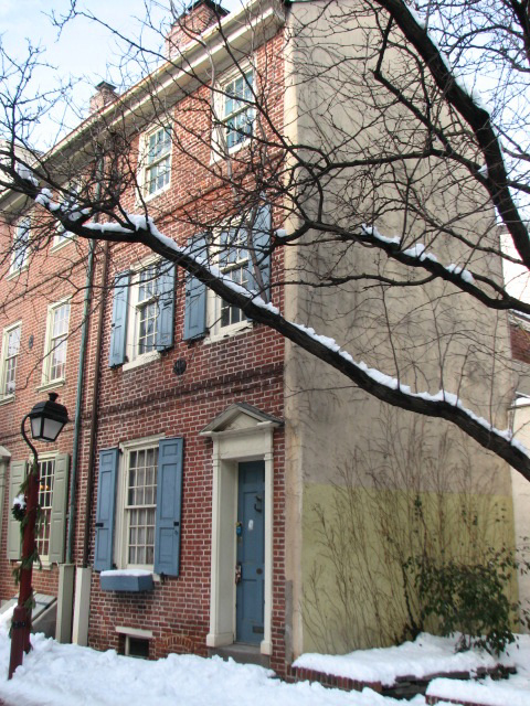 The house at 109 Elfreth's Alley is on the Preservation Alliance endangered list.