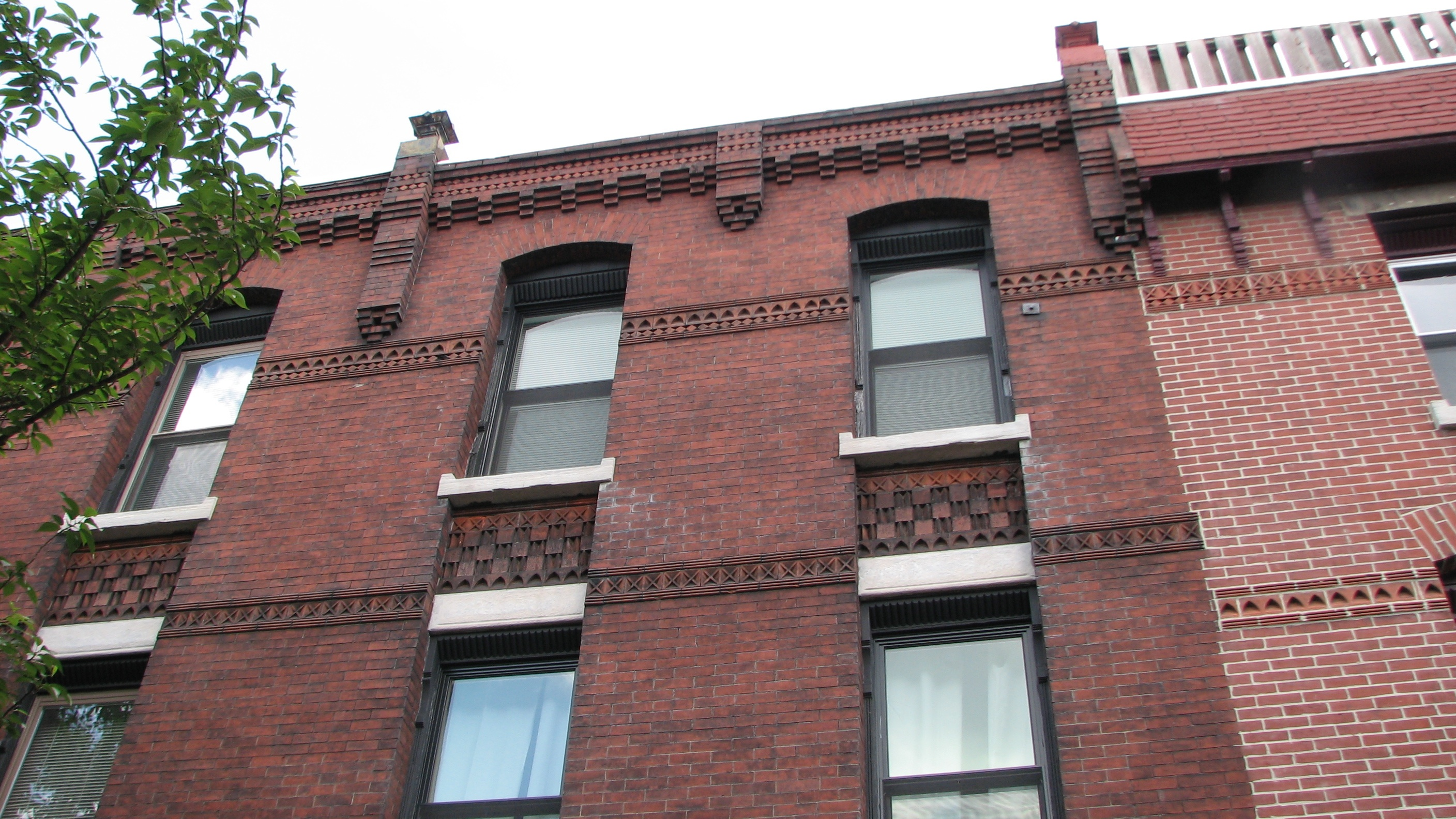 Distinctive brickwork adorns homes on North 21st Street.