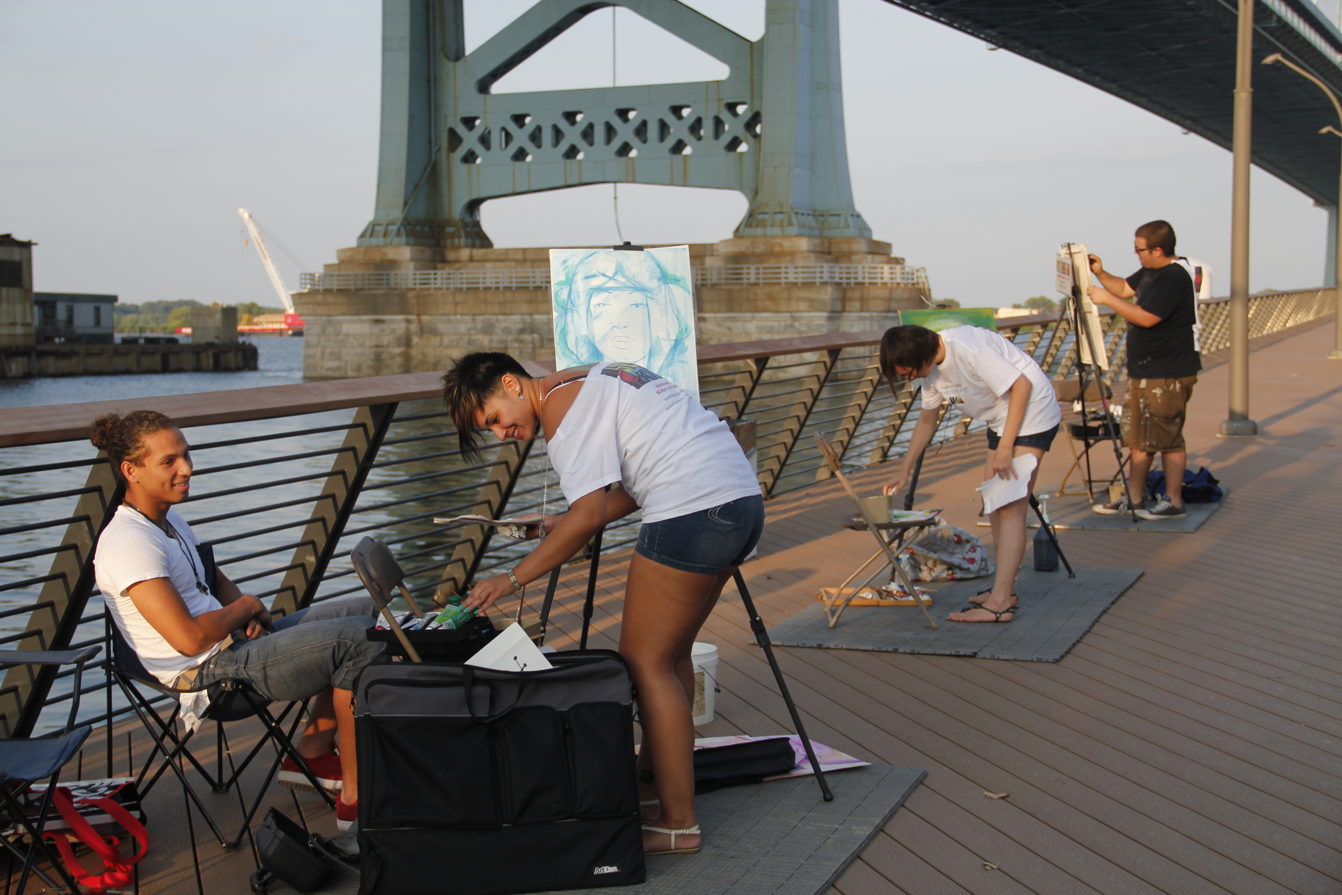Catching up with food and tunes at First Friday on Race Street Pier