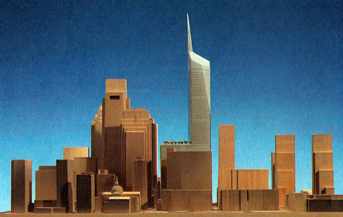 A rendering of the proposed American Commerce Center