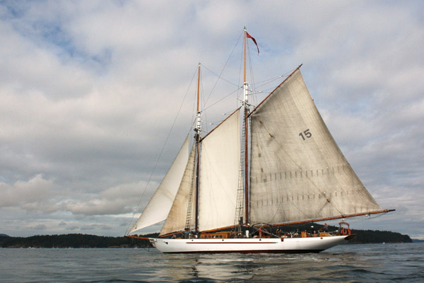 The schooner Adventuress sailing the waters in Washington state also was a winning photo in 2009.