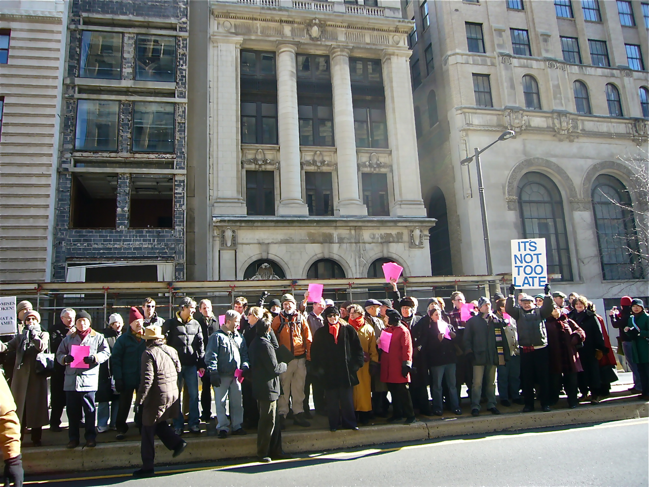 Preservation rally for ill-fated PLICO Building
