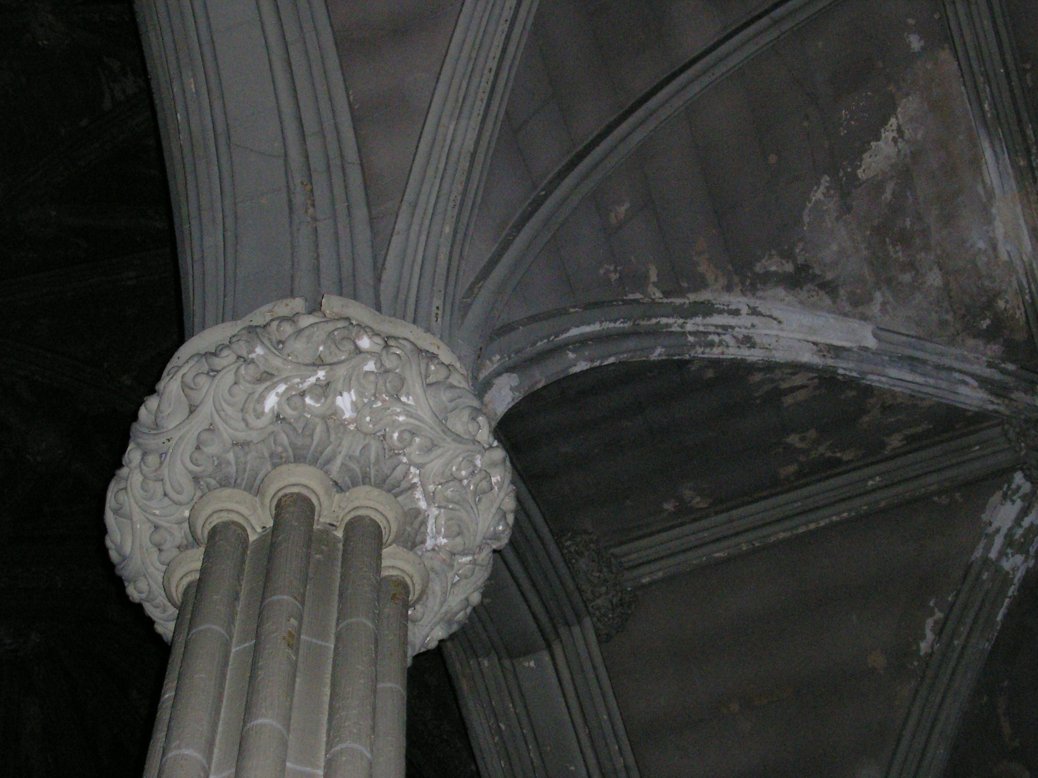 The columns of the church were topped with elaborate ornamentation in this 2007 photo.