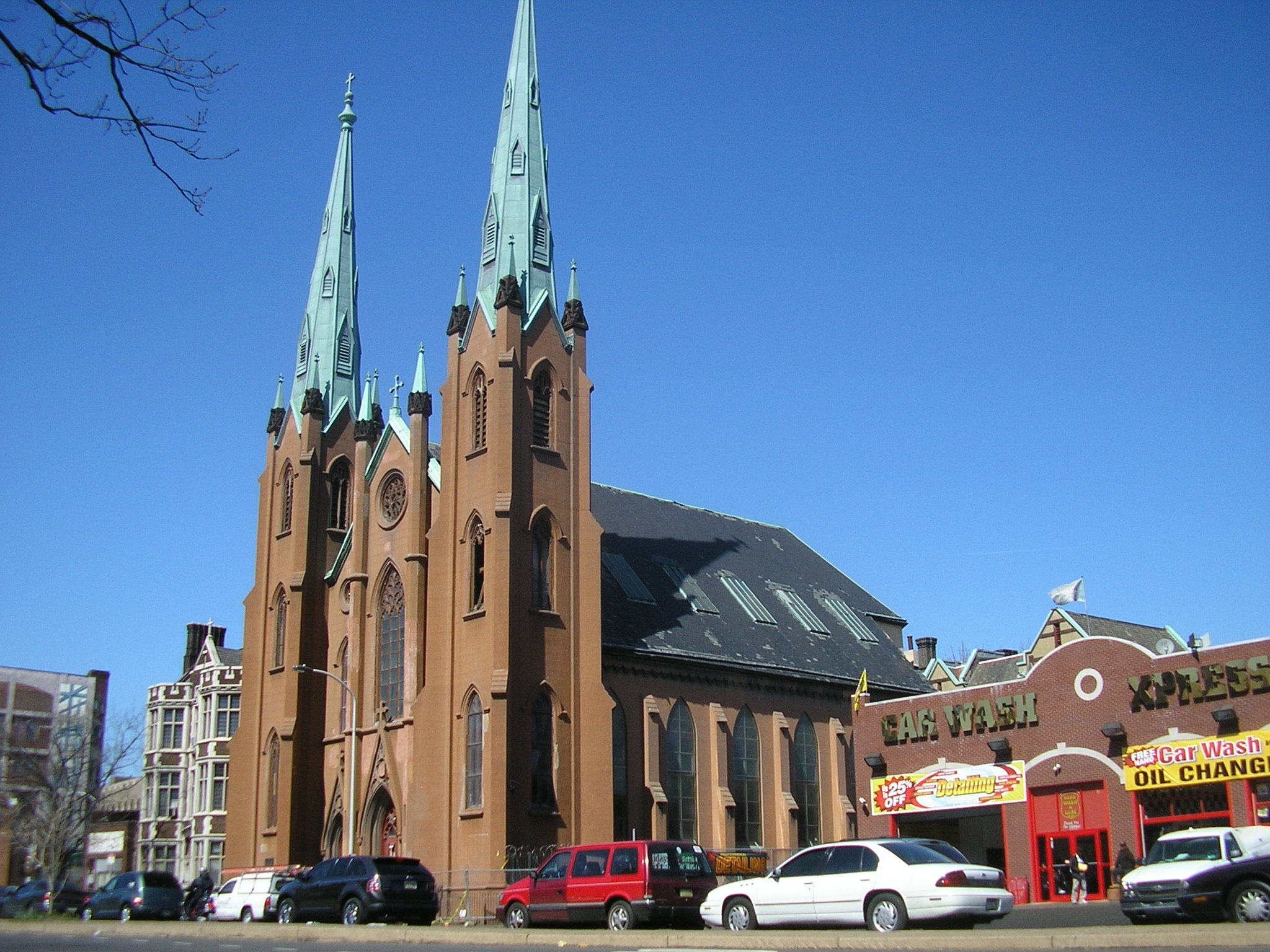 The Church of the Assumption, on the 1100 block of Spring Garden, is a neighborhood landmark.