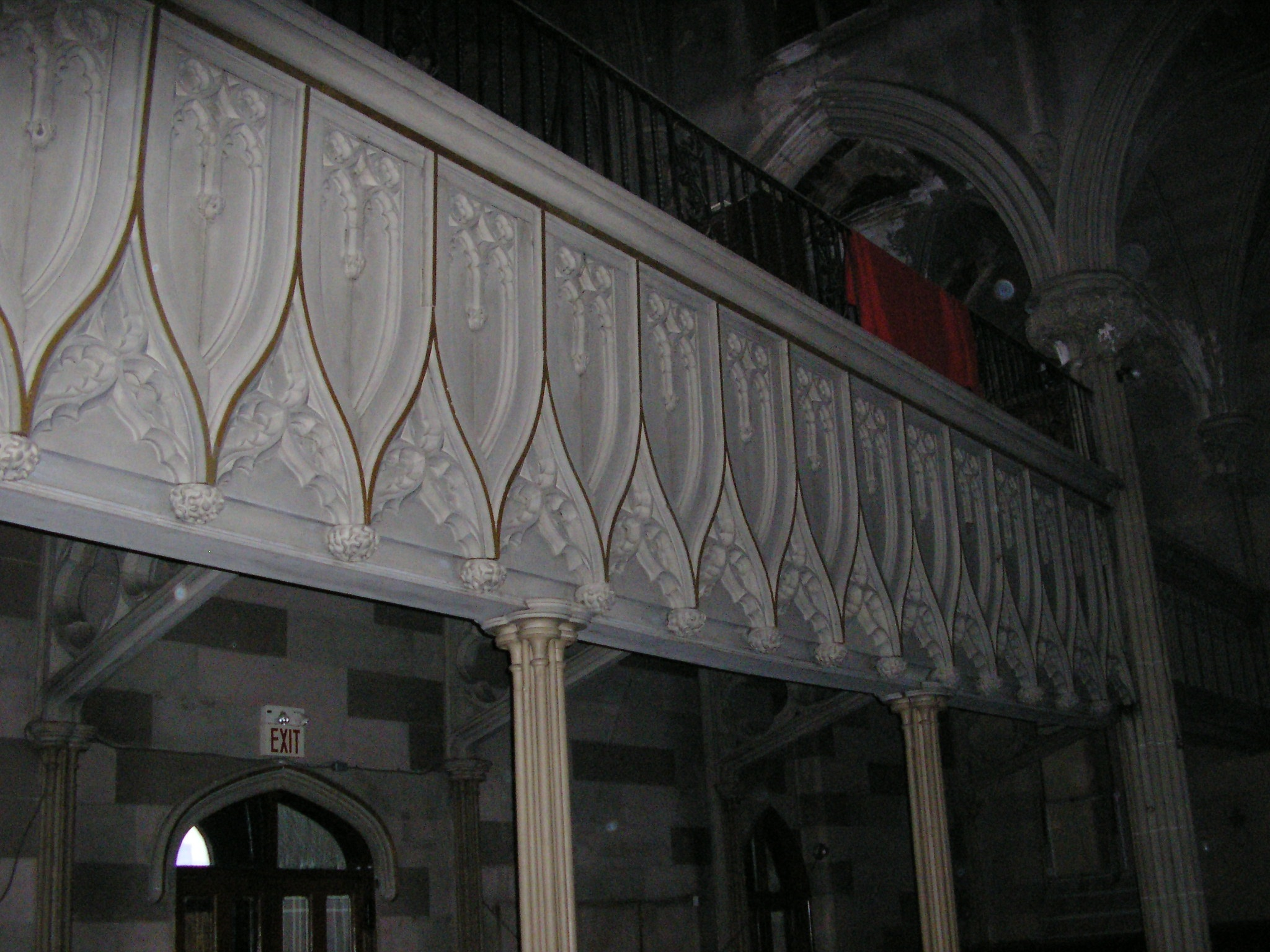 The interior decorative plaster was intact in 2007.