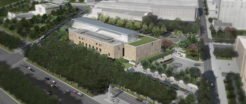 The Barnes Foundation on the Ben Franklin Parkway is currently being developed